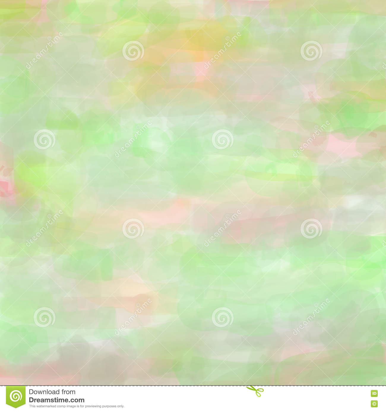 watercolor background with brushstrokes in pink and green