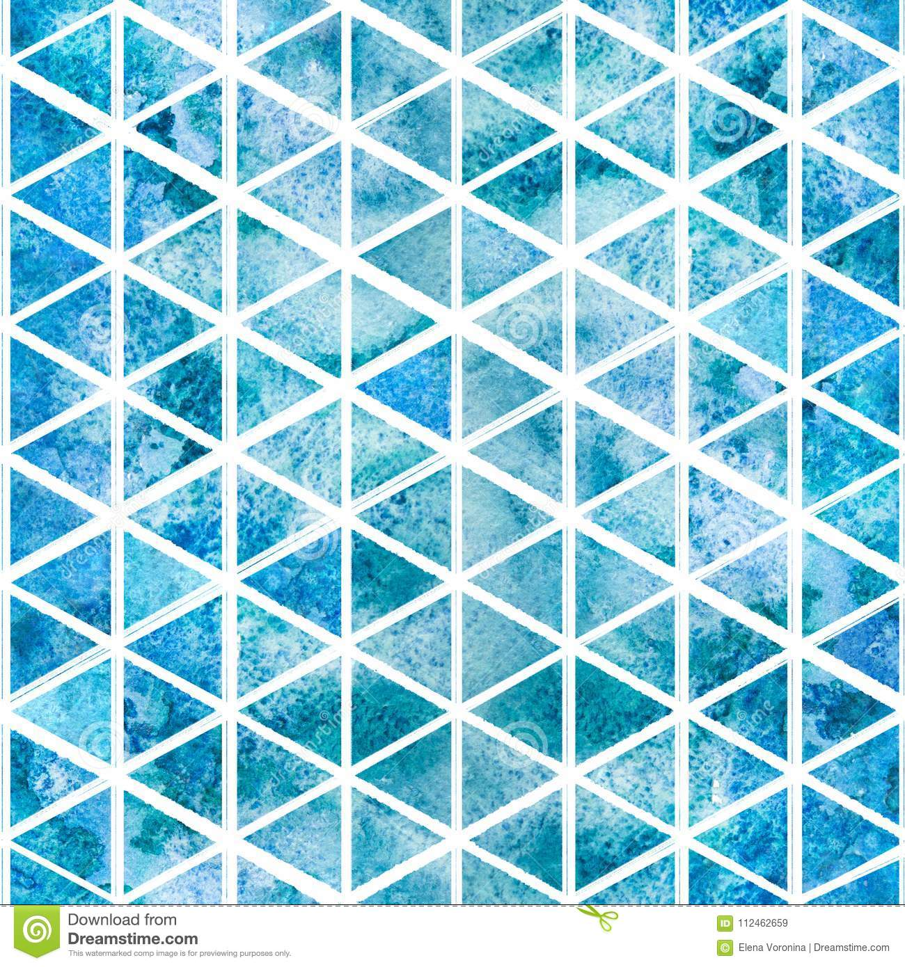 Seamless Light Blue Triangular Pattern Stock Illustration