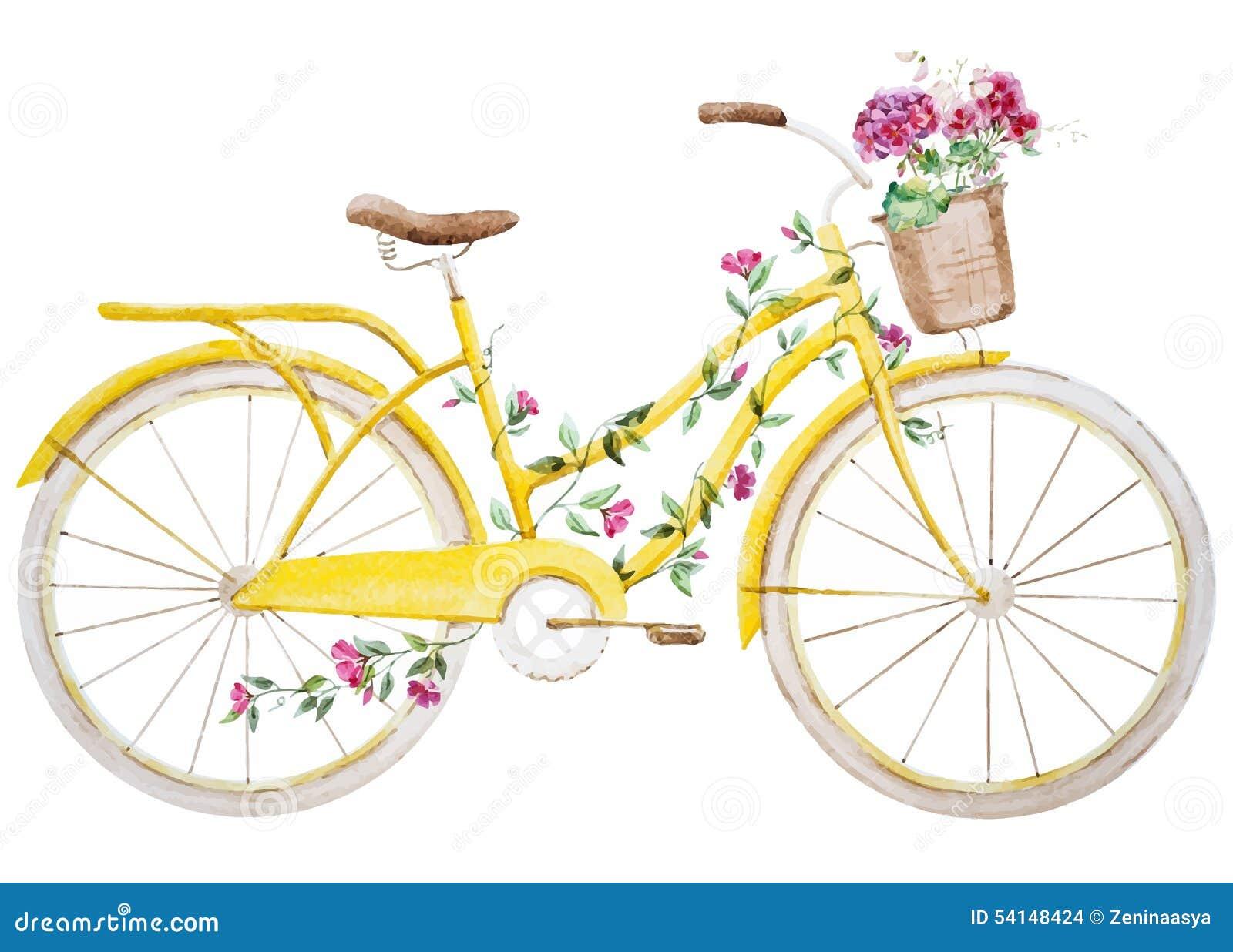 Watercolor bike bicycle