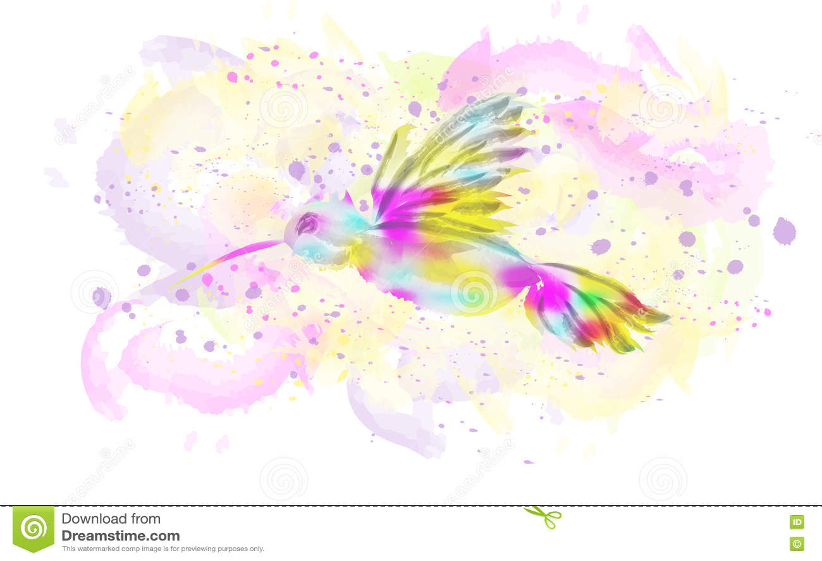 watercolor bird illustration stock vector image 75752002