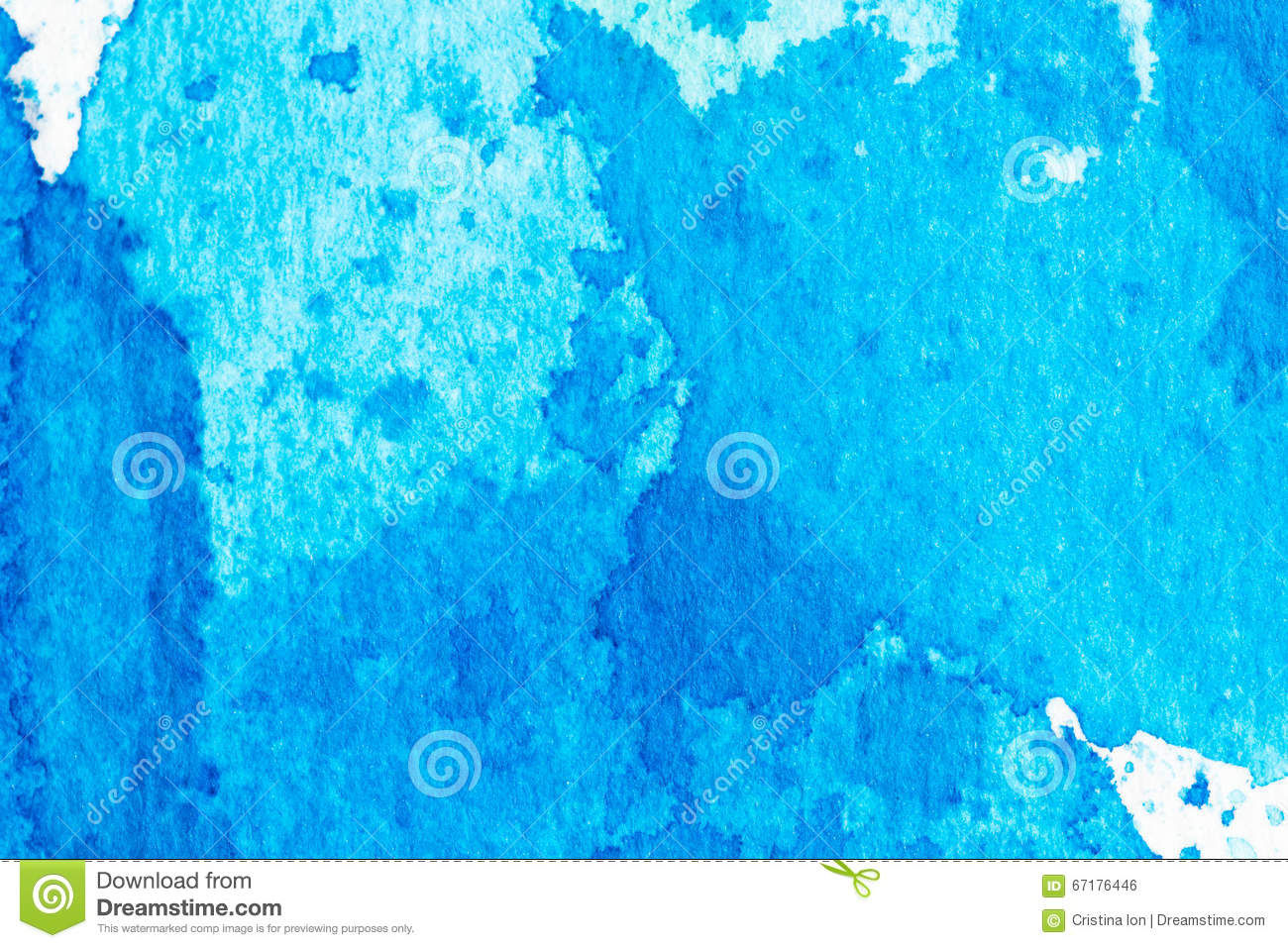 Watercolor blue abstract splash background