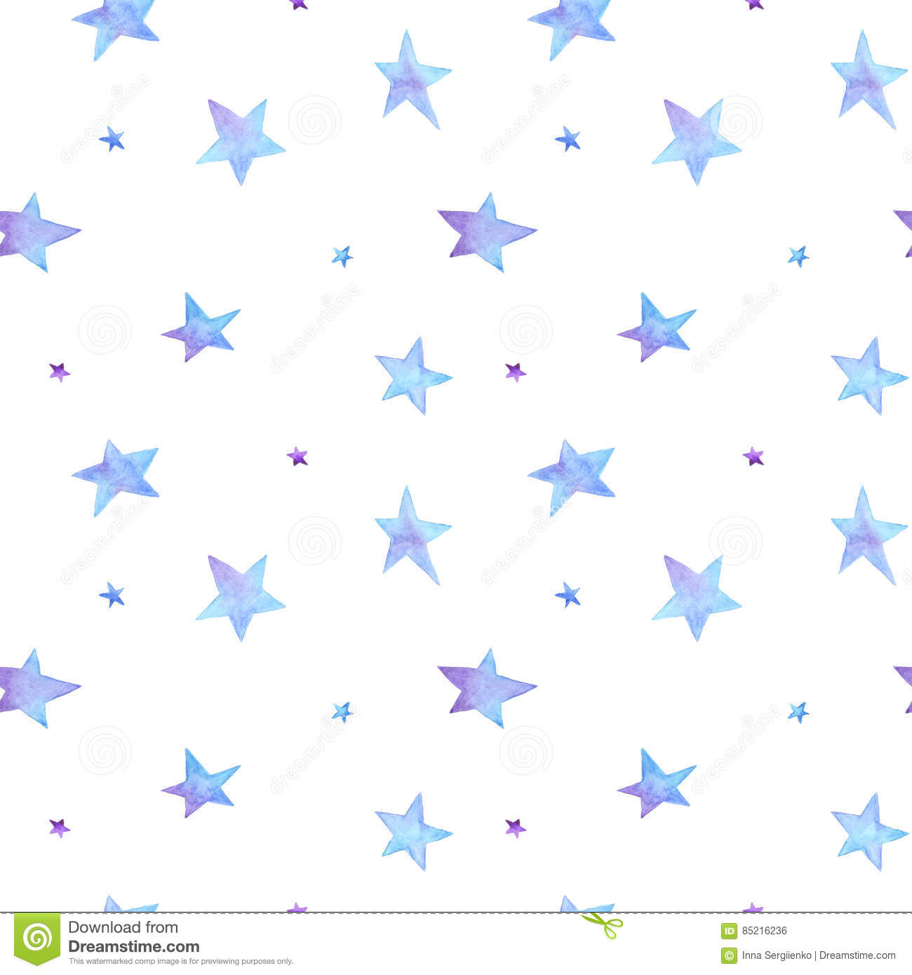 Painted Blue Background With Star