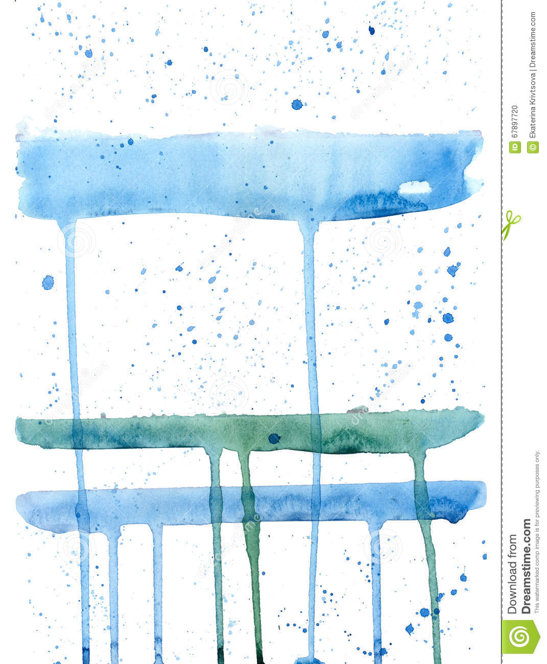 Watercolor blue-white background.