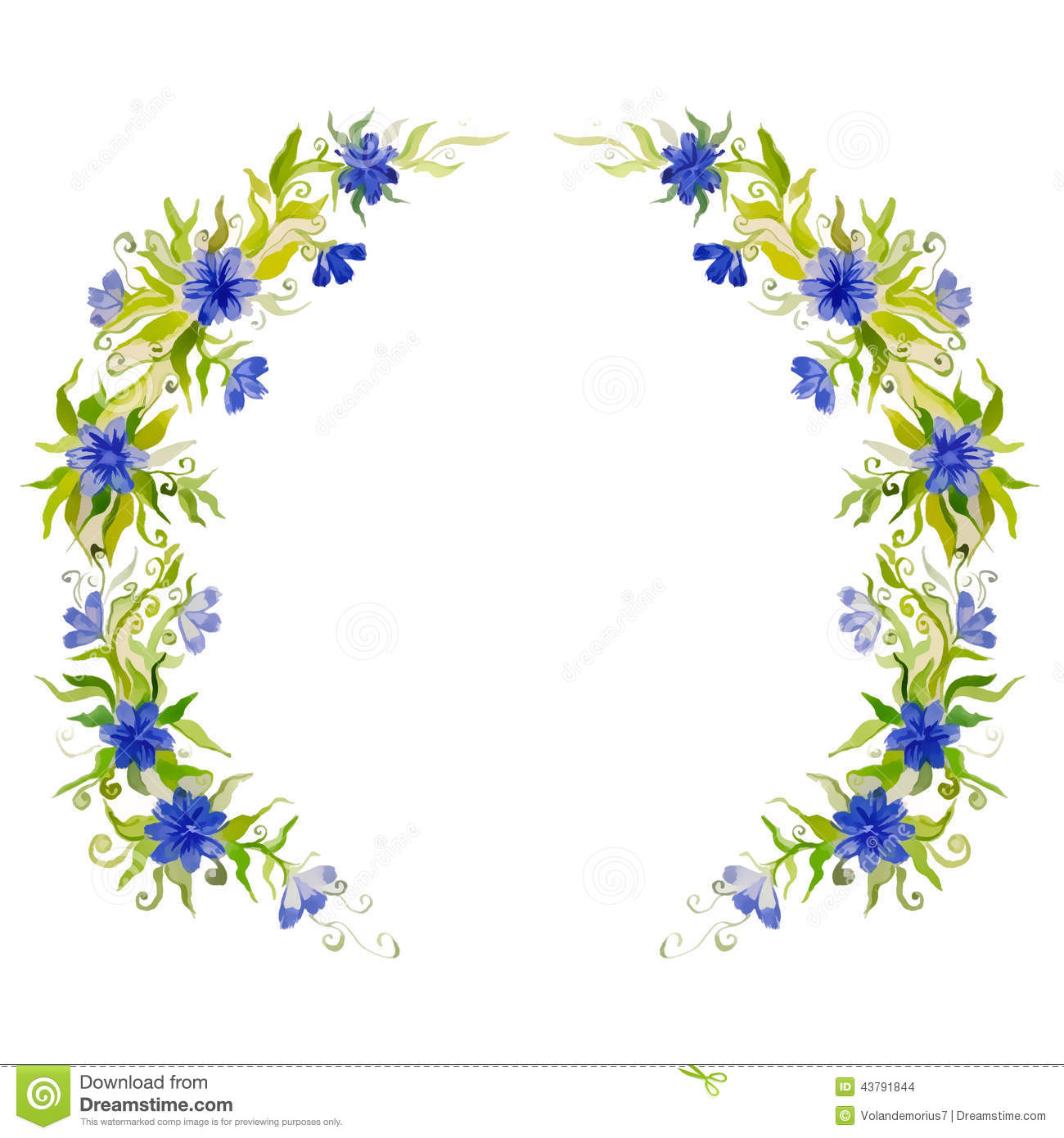 Watercolor bright beautiful flower wreath for decoration stock watercolor bright beautiful flower wreath for decoration izmirmasajfo