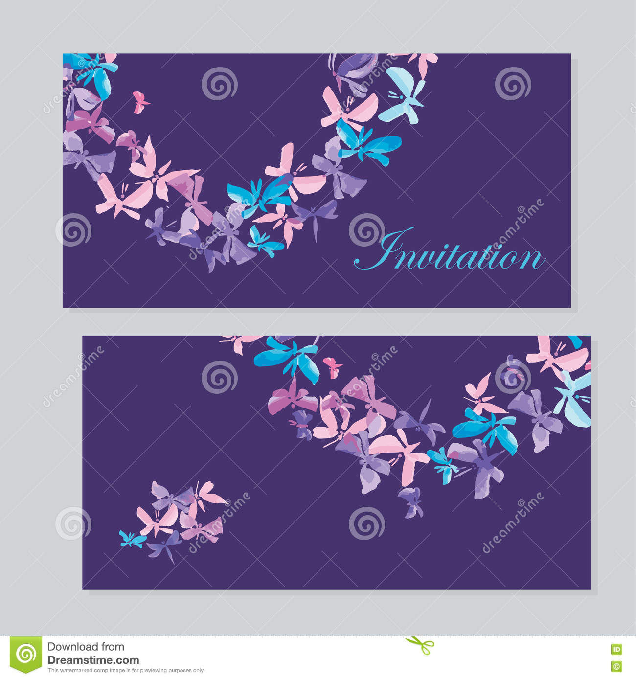 Watercolor Butterfly Invitation Stock Vector - Illustration of ...