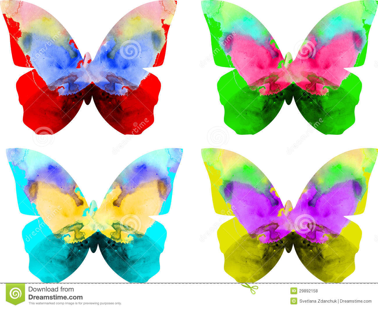 Royalty free stock photos watercolor butterfly isolated on white