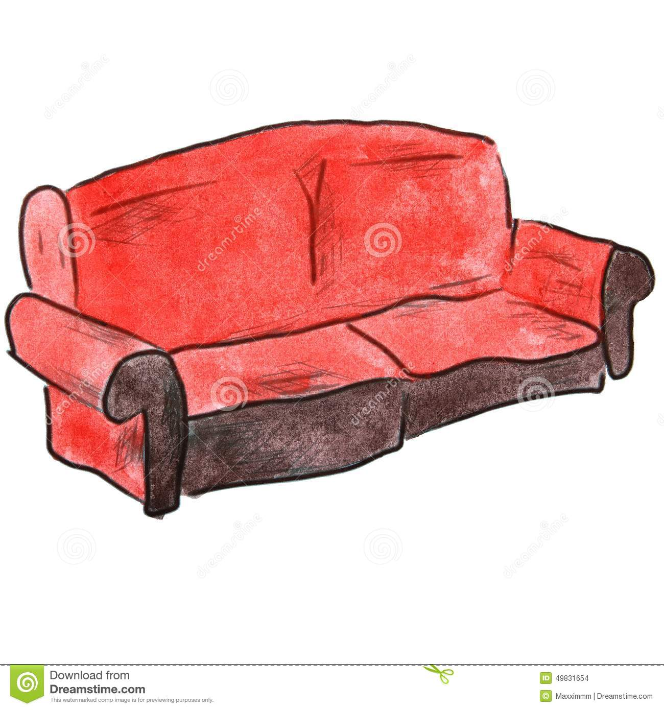 Luxury Red Couch for Sale