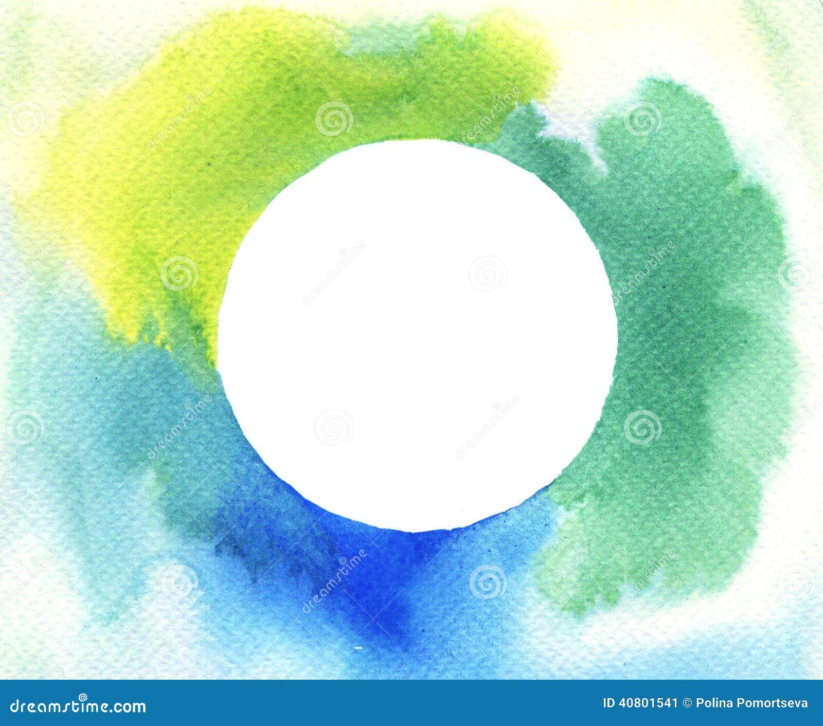Watercolor Circle Frame Background Illustration 40801541 - Megapixl