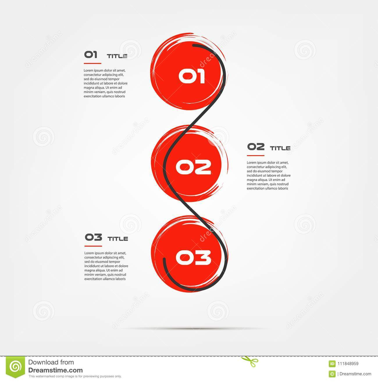 watercolor circle snake brush red infographics some of chart