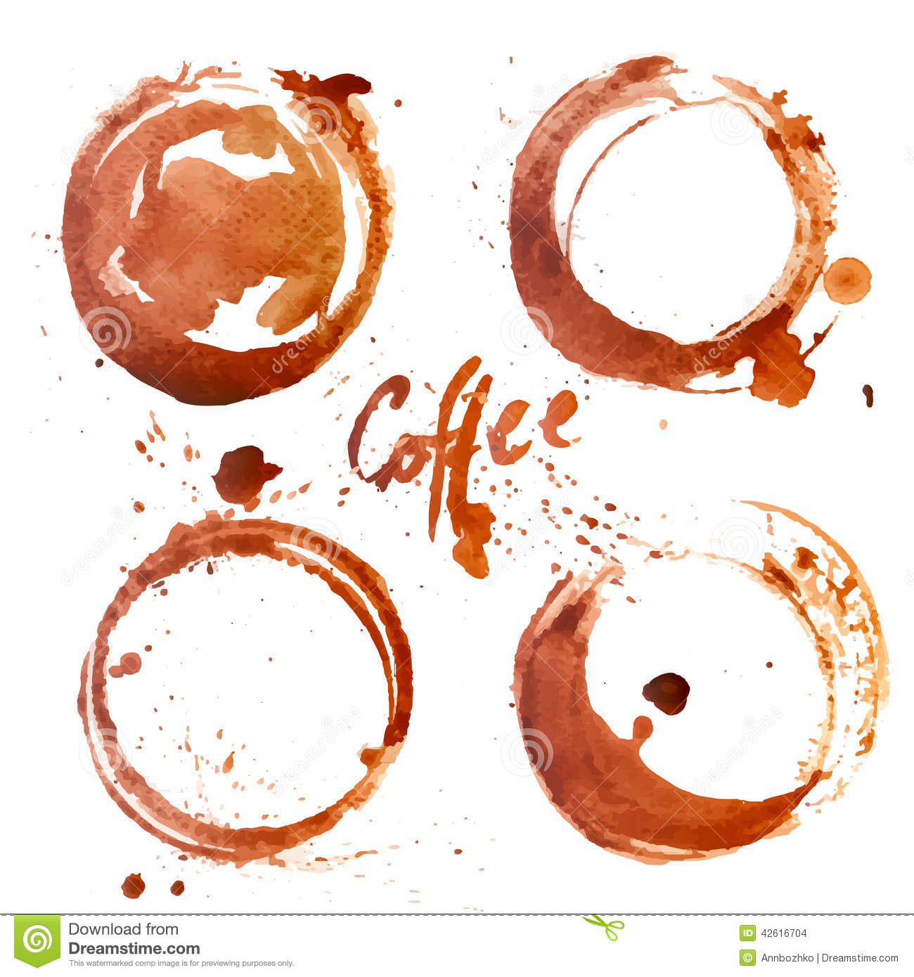 Watercolor coffee stain stock vector image 42616704 for Coffee watercolor