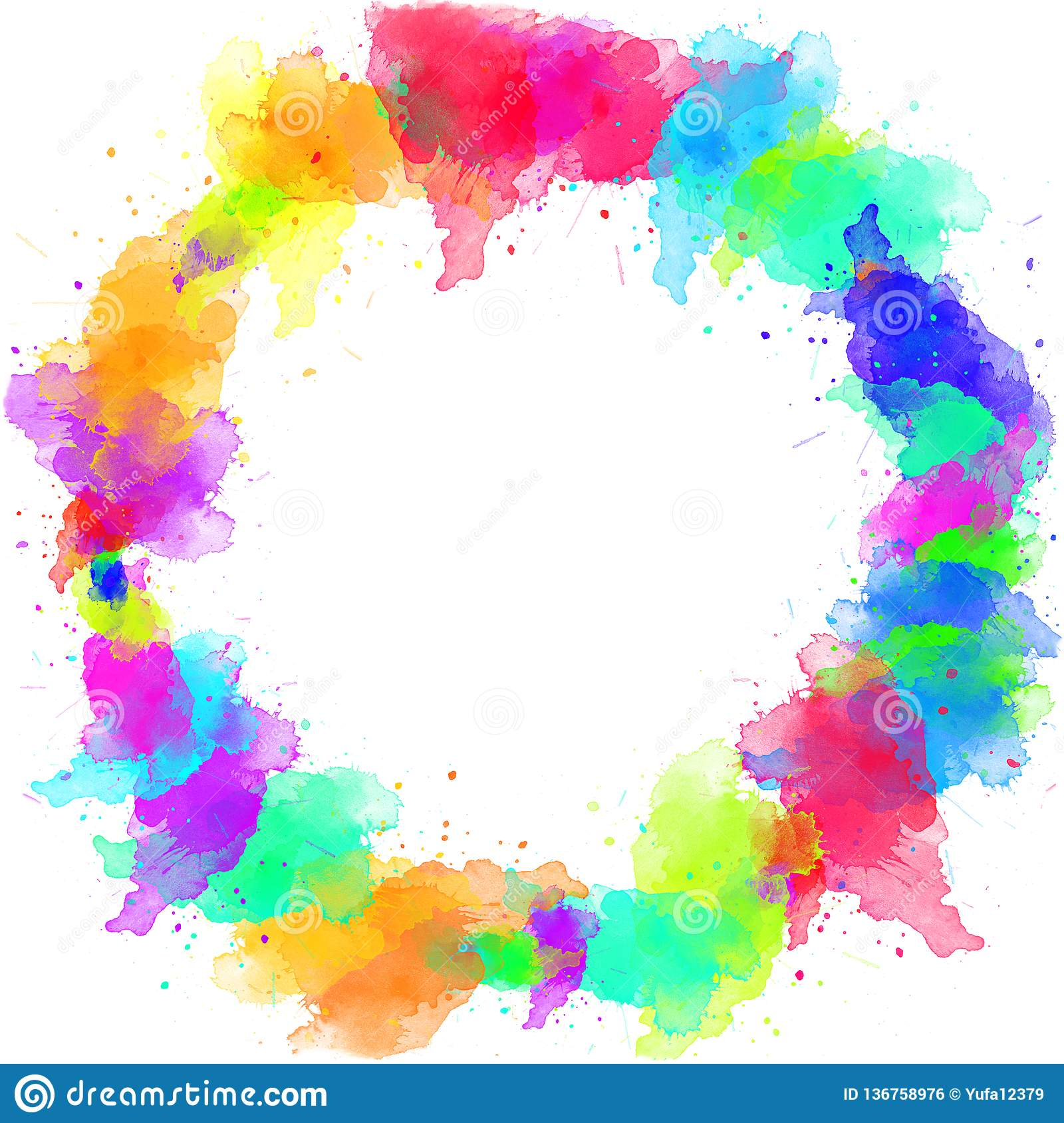 Watercolor Colorful Borders Design For Frame Wallpapers