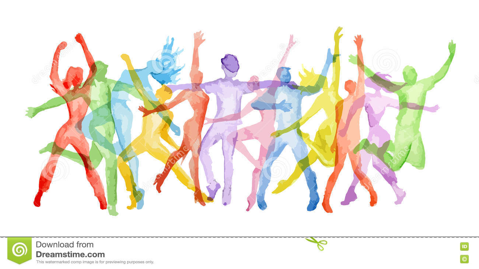 Watercolor dance set.