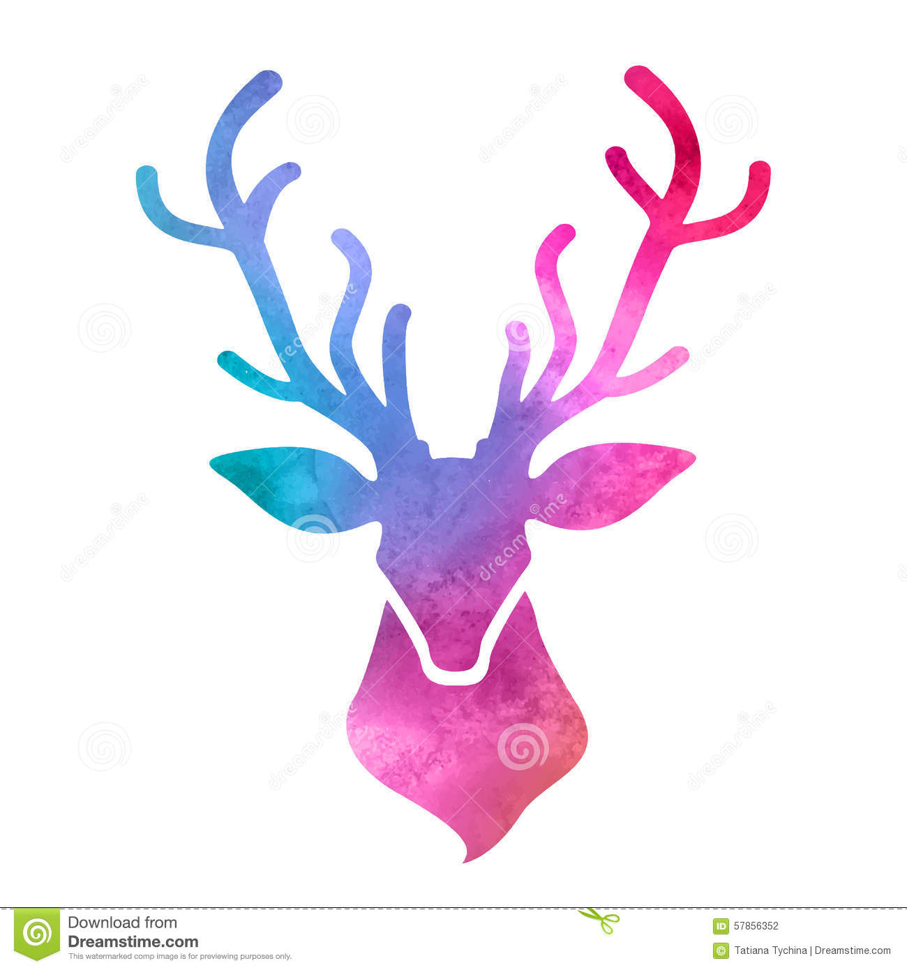 Colorful Deer Painting