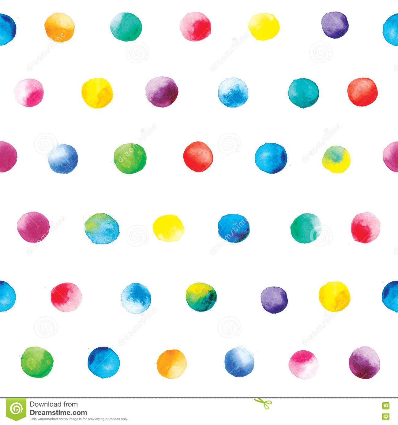 watercolor dots pattern blue polka dot pattern on a white