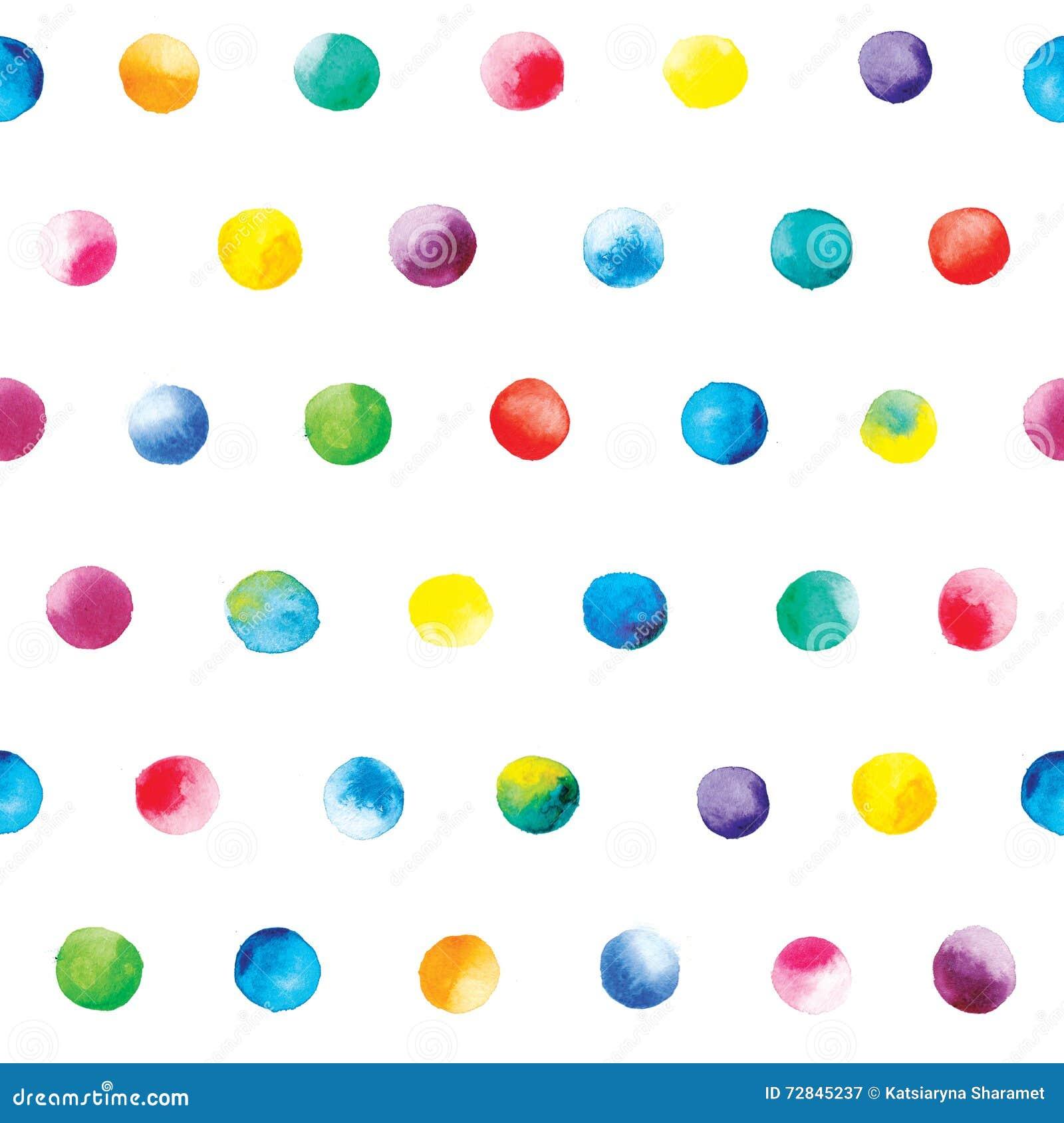 watercolor dots pattern colorful polka dot pattern on a white