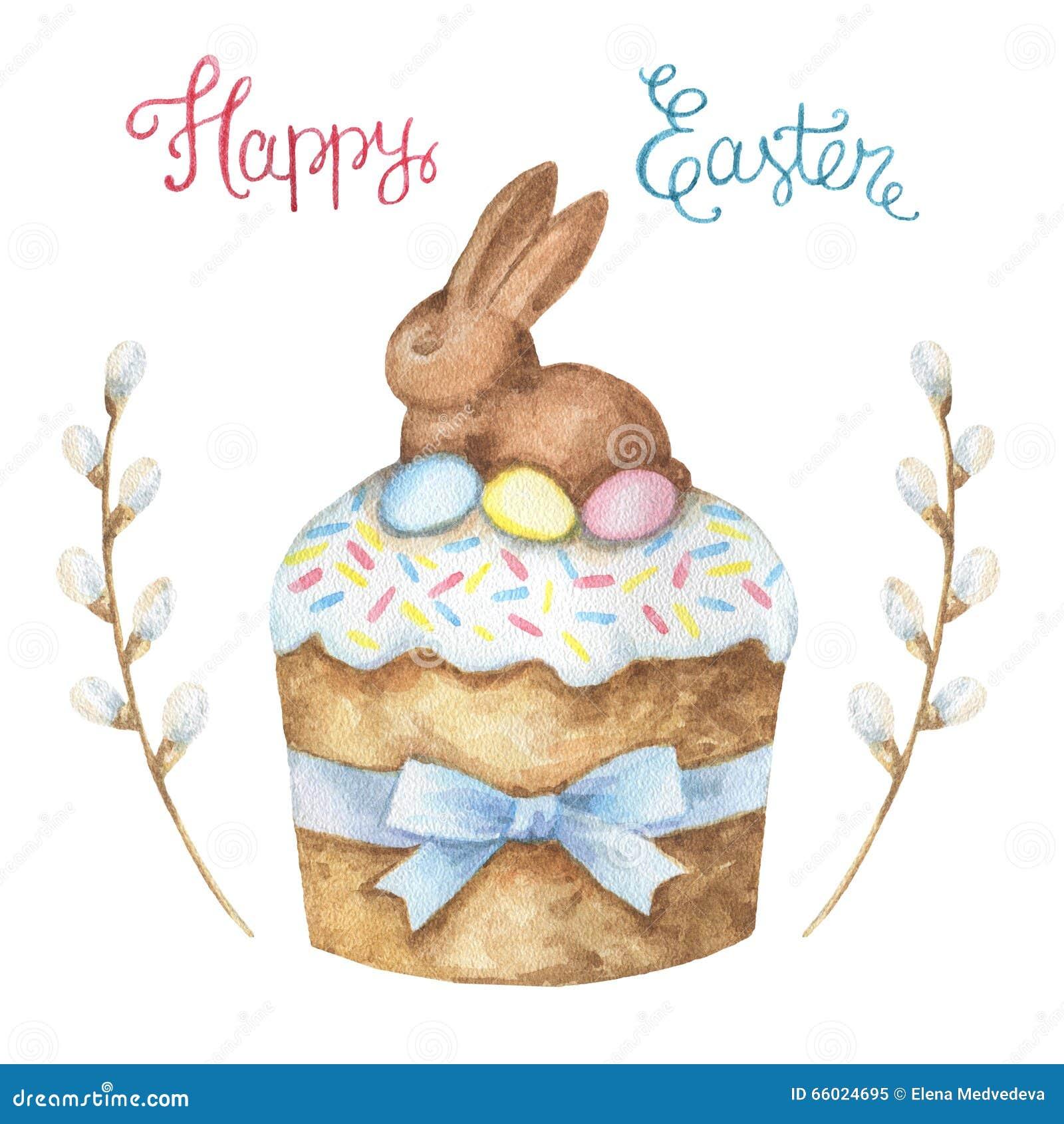 White Chocolate Easter Bunny Cake