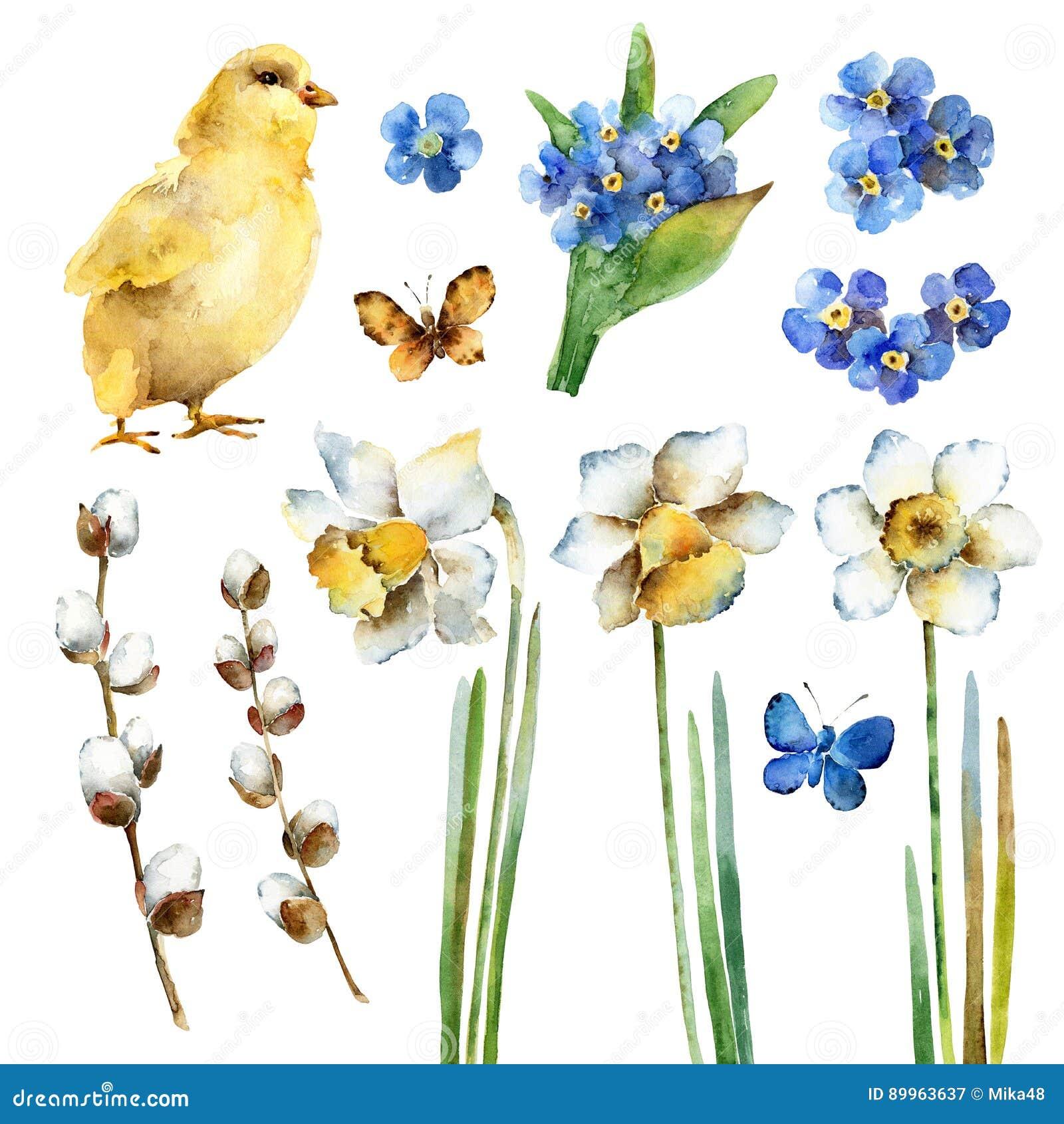 Watercolor Easter set