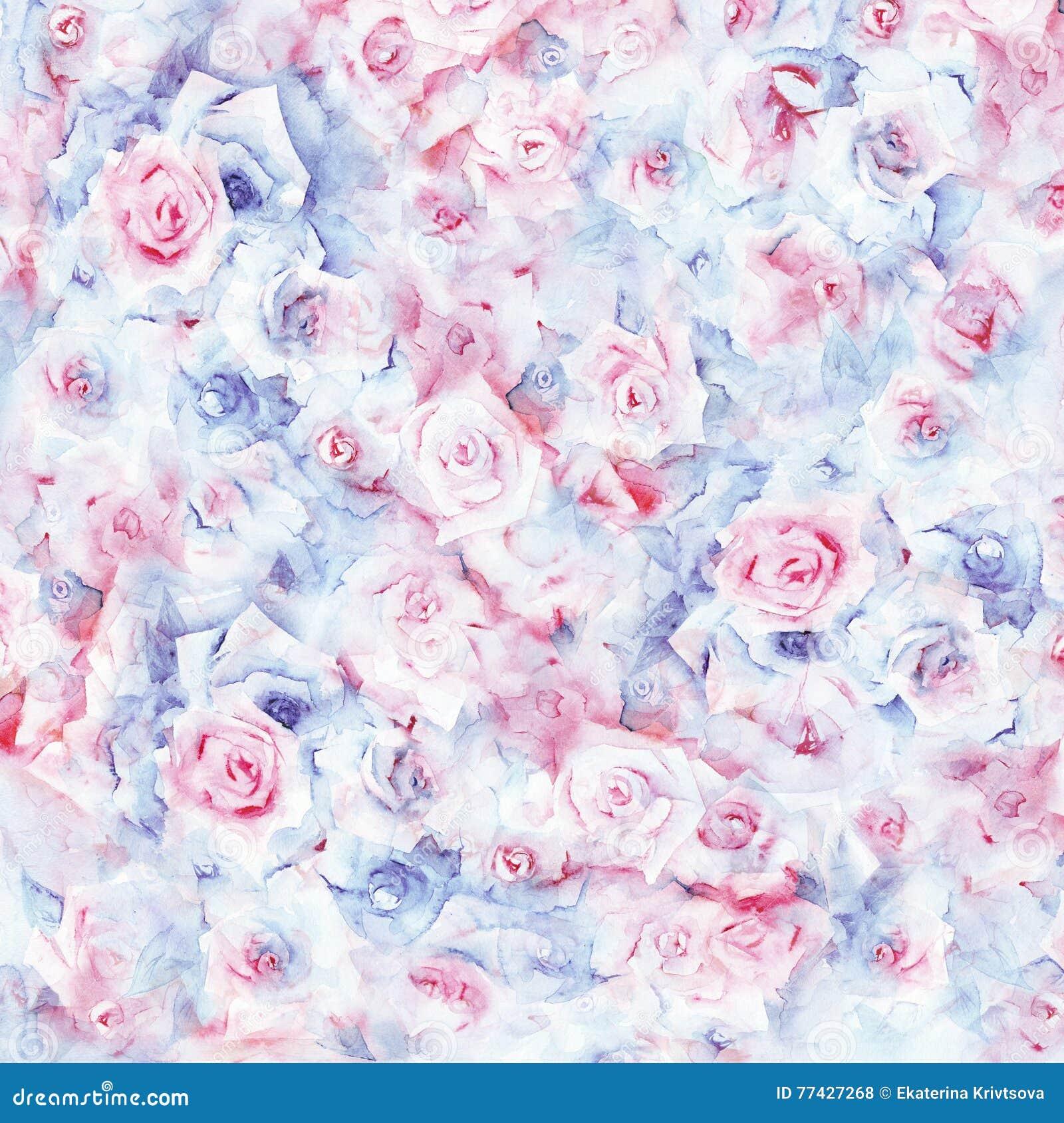 Watercolor Floral Background Stock Illustration Illustration Of
