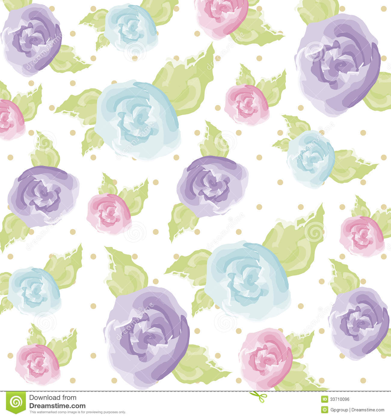Watercolor Flower Royalty Free Stock Image - Image: 33710096