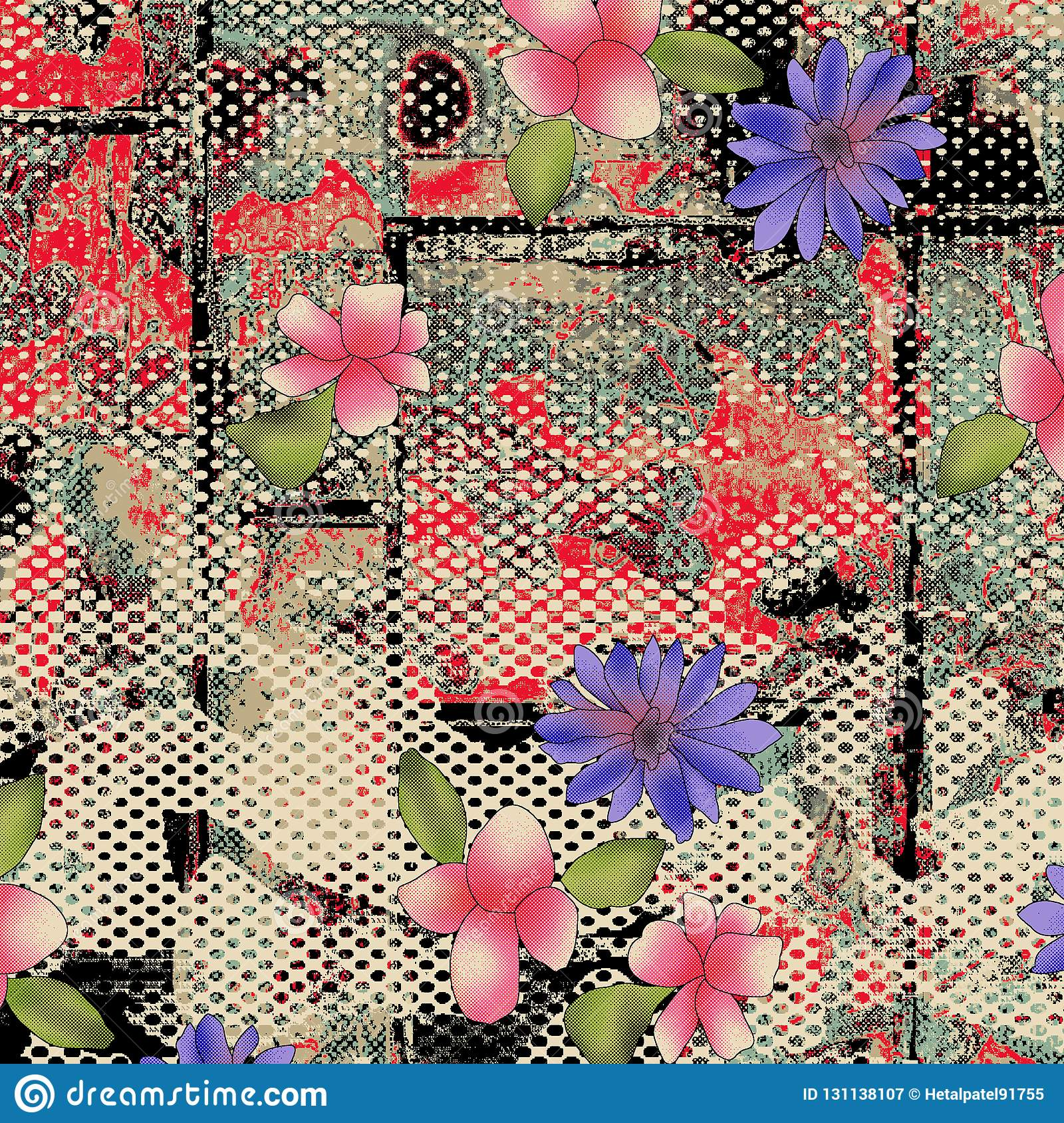 WATERCOLOR FLOWER PATTERN on textures