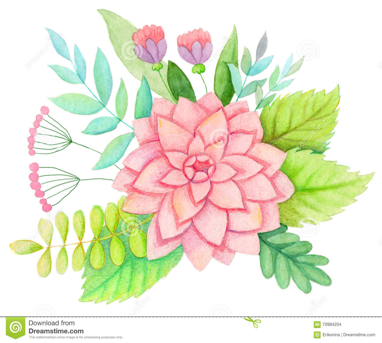 Download watercolor flowers stock illustration illustration of logo 70984204