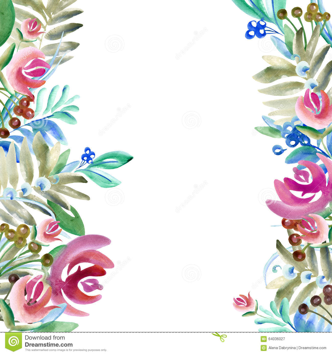 Watercolor Flowers And Plants Watercolor Floral Natural