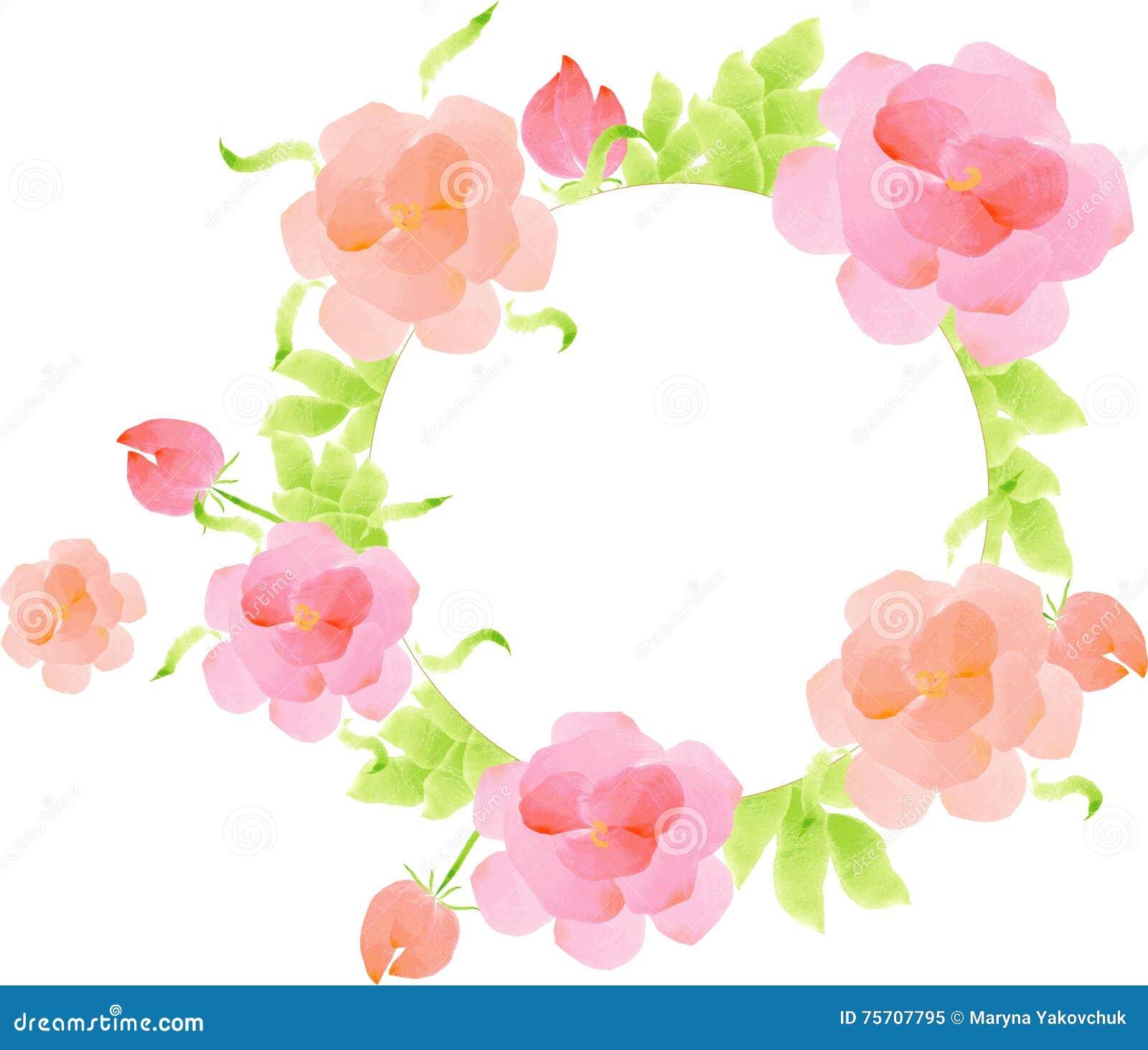 Watercolor flowers template