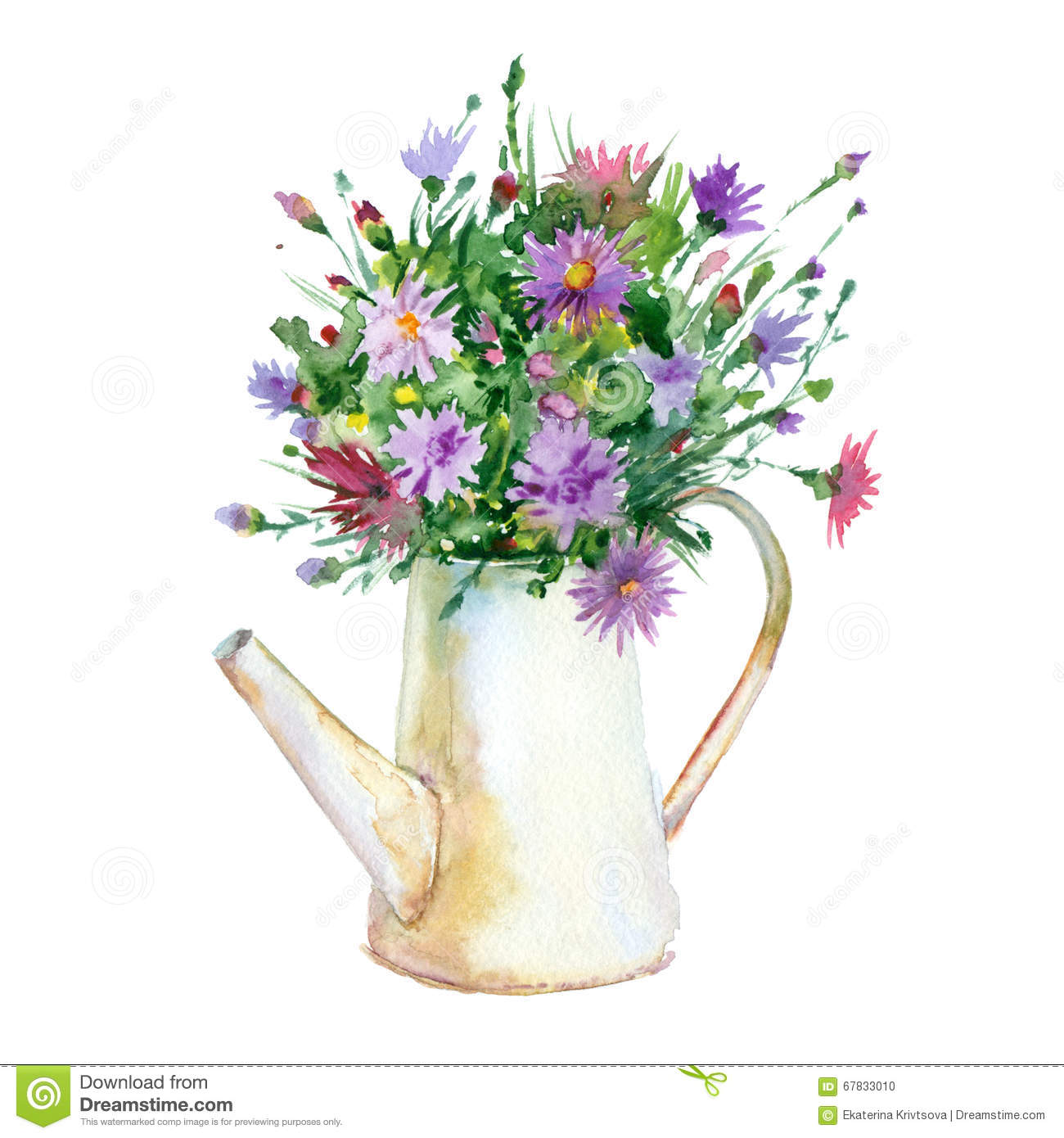watercolor flowers in vase stock illustration lilac clip art flowers lilac borders clip art