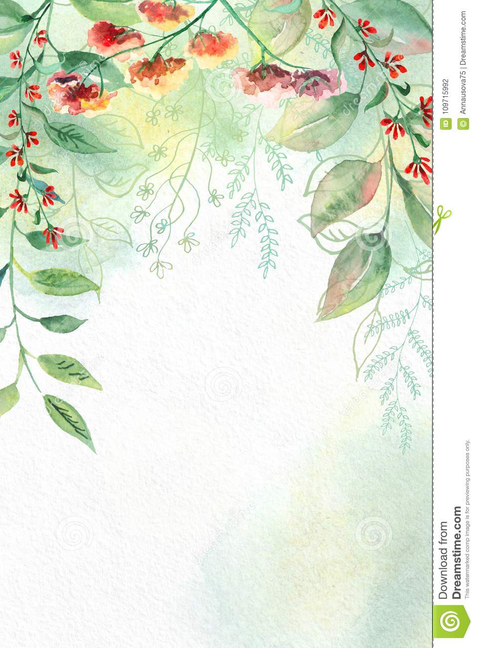 Watercolor flowers on white watercolor paper stock photo image of download watercolor flowers on white watercolor paper stock photo image of flower illustration mightylinksfo