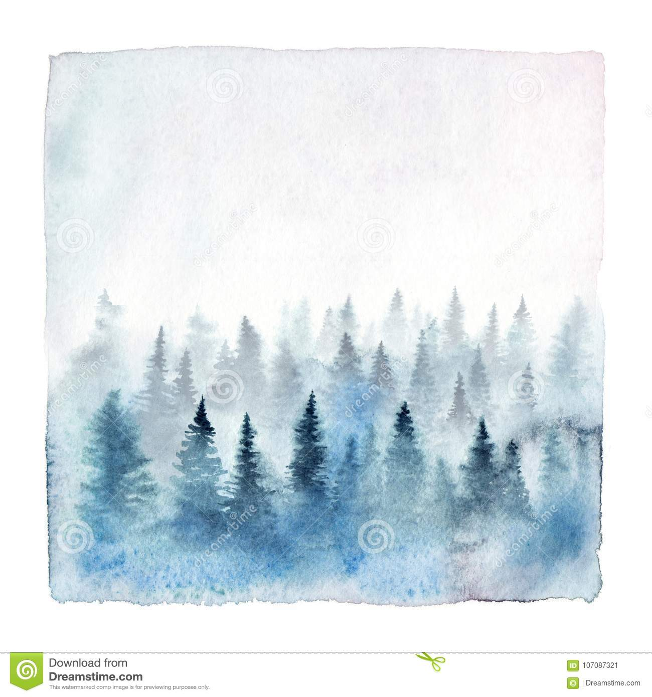 watercolor forest stock illustrations 72 786 watercolor forest stock illustrations vectors clipart dreamstime https www dreamstime com watercolor foggy forest painting spruce trees hand painted winter landscape isolated white background image107087321
