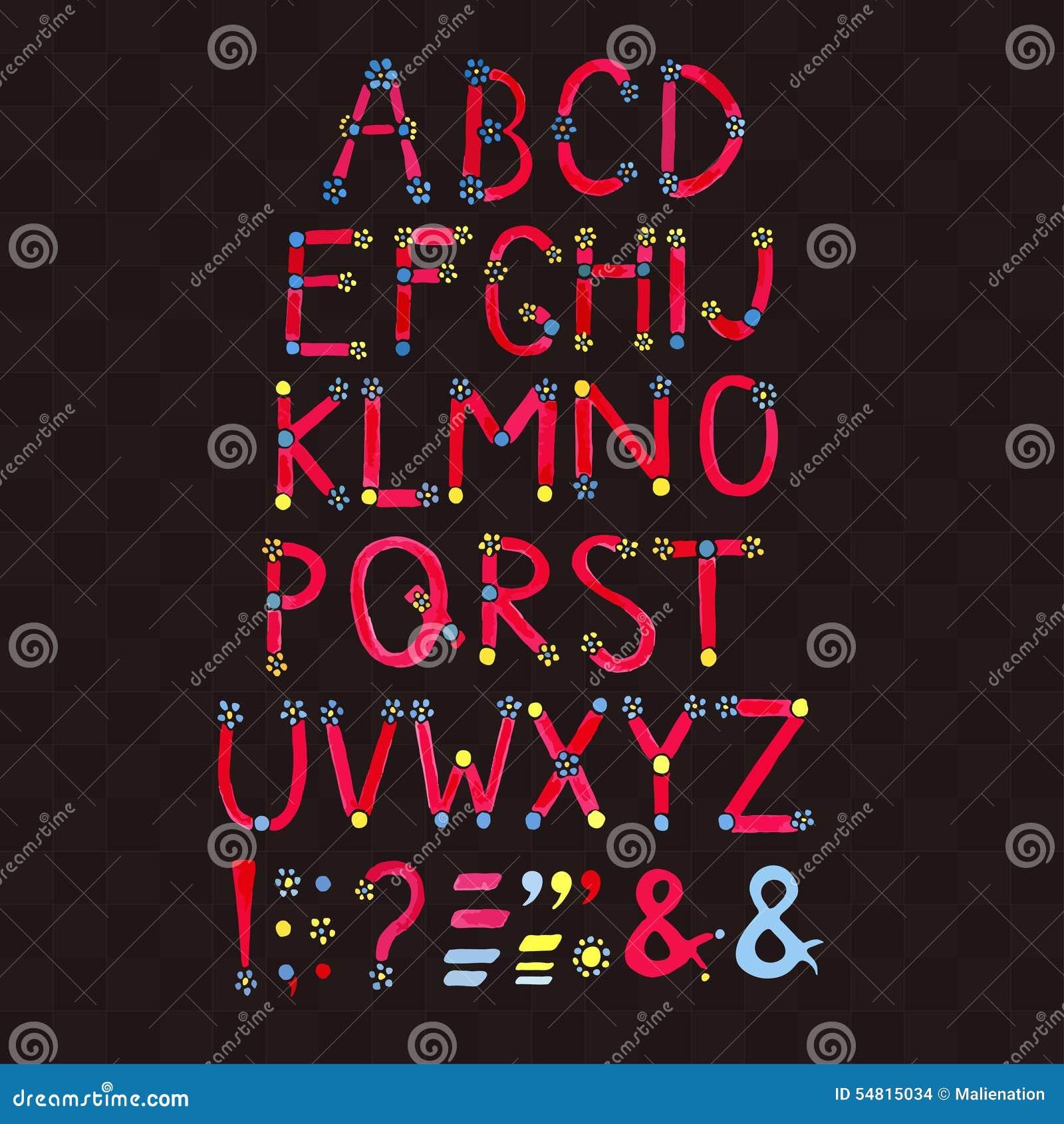 Watercolor font hand drawn alphabet watercolor letters for Alphabet decoration