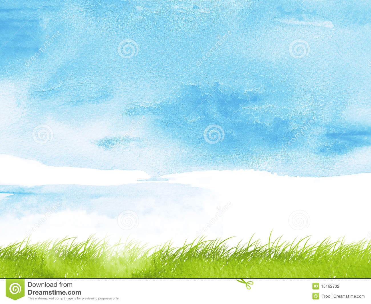 Nature Images 2mb: Watercolor Grass Stock Illustration. Illustration Of Pure