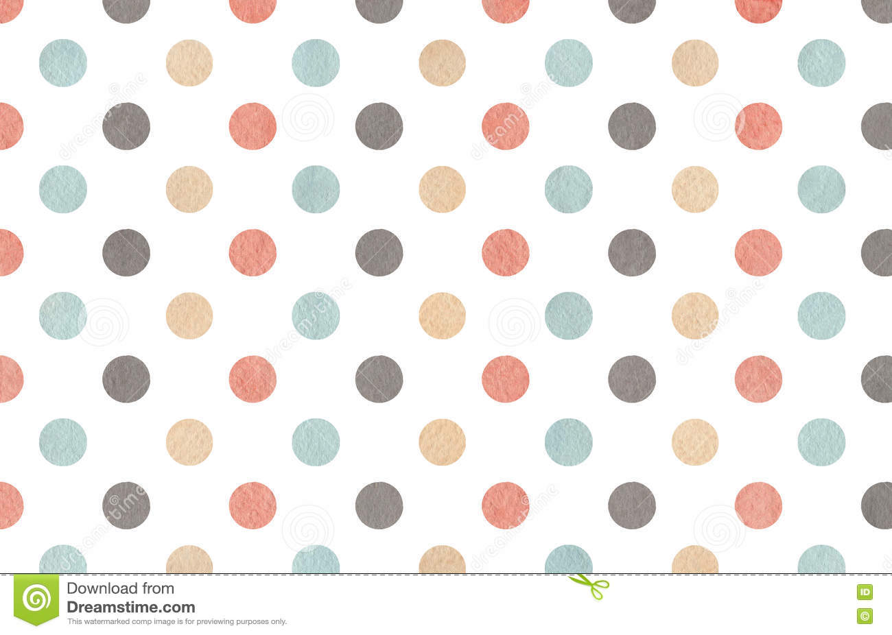 Watercolor Gray, Pink, Beige And Blue Polka Dot Background ...