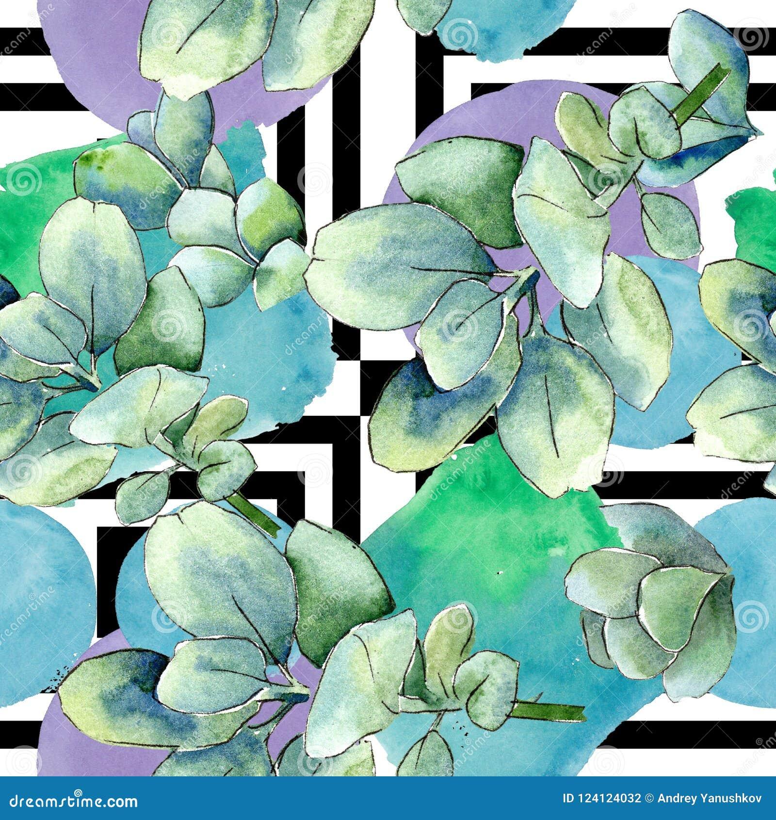 Watercolor Green Boxwood Leaves. Leaf Plant Botanical Garden Floral ...