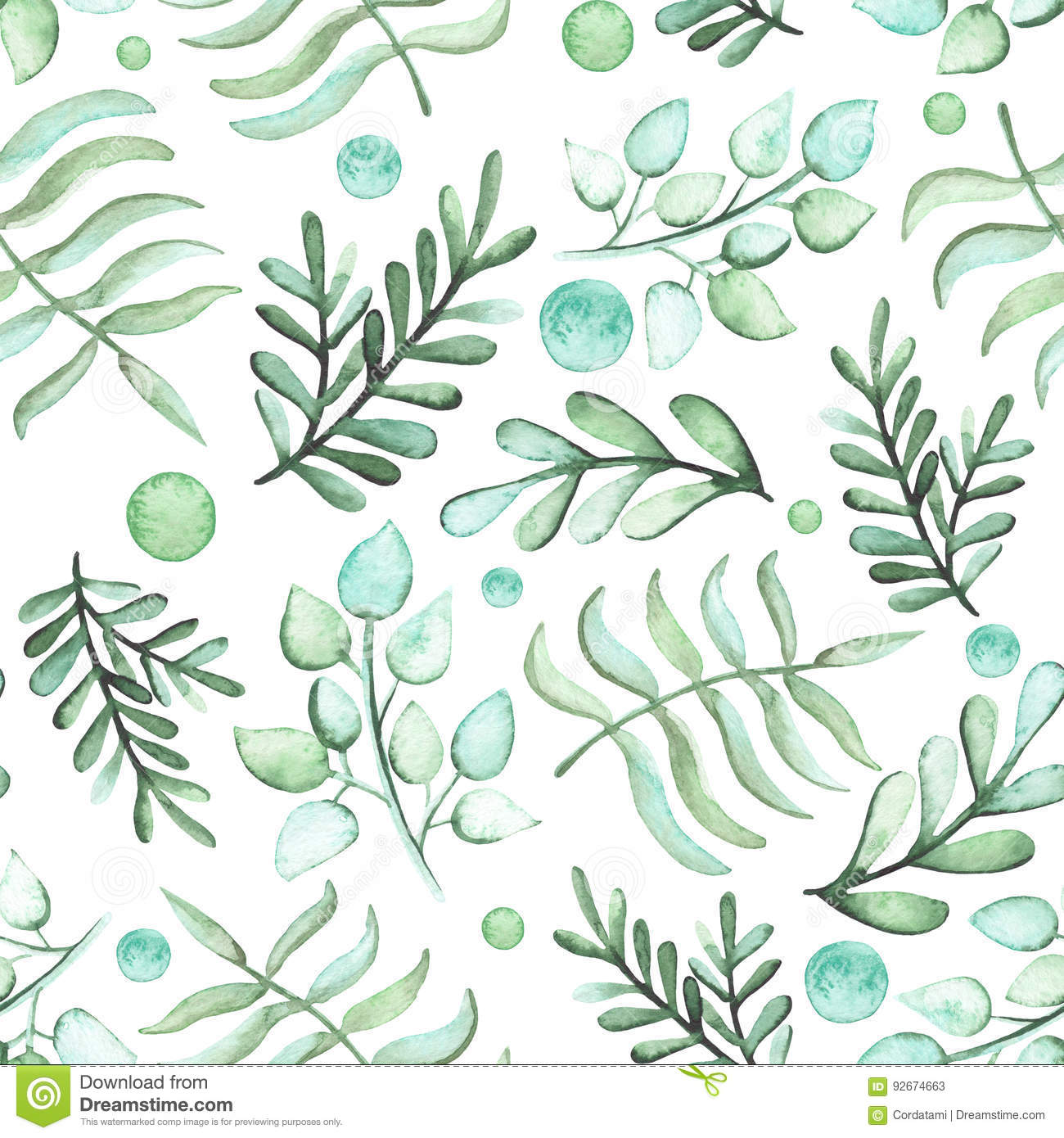 Light Green And White Small Polka Dots Pattern Repeat ...