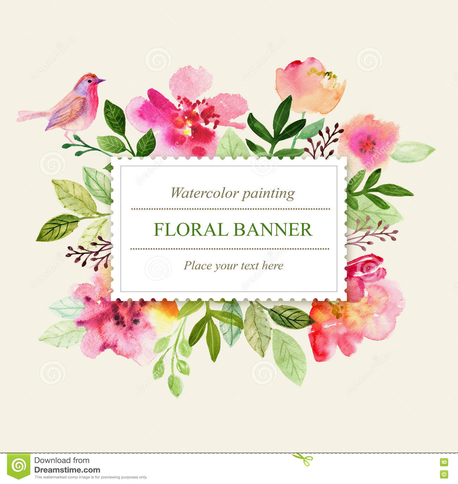 Watercolor Greeting Card Flowers Handmade Congratulations