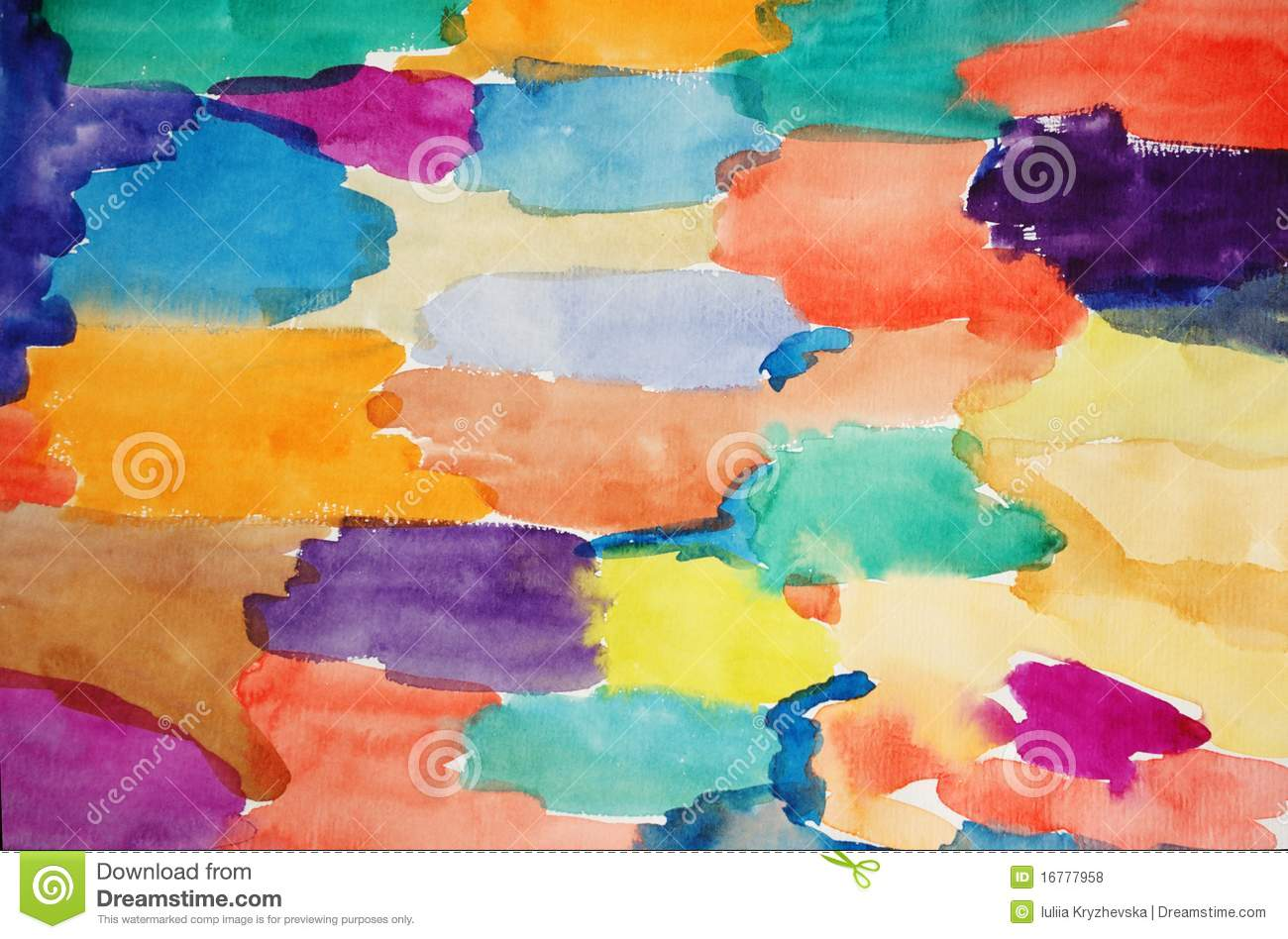 Watercolor hand painted art background