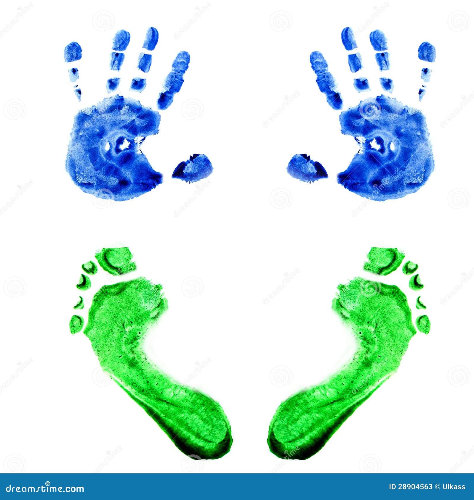 Watercolor Handprints ...