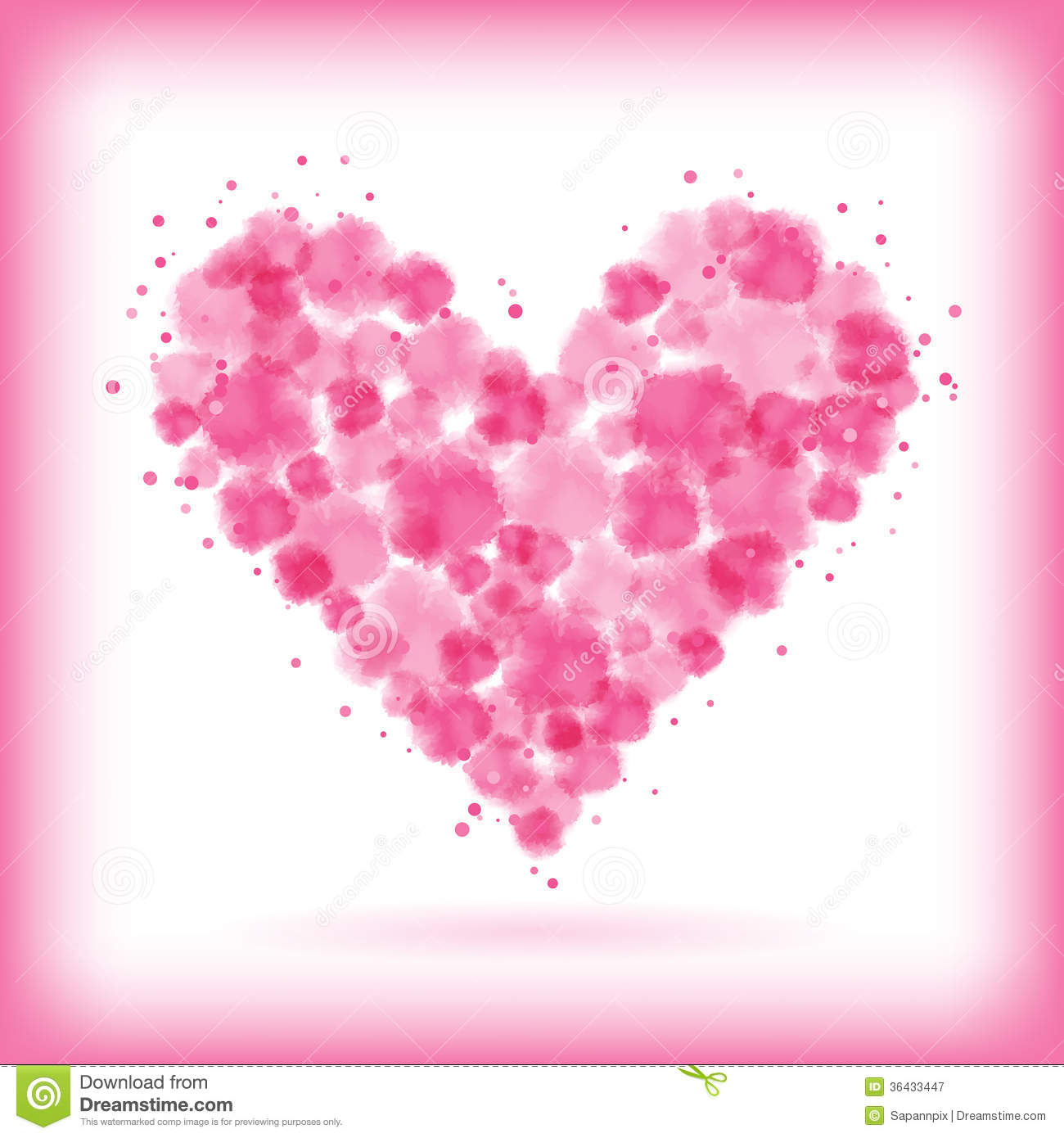 Watercolor Heart Stock Vector Illustration Of Paint