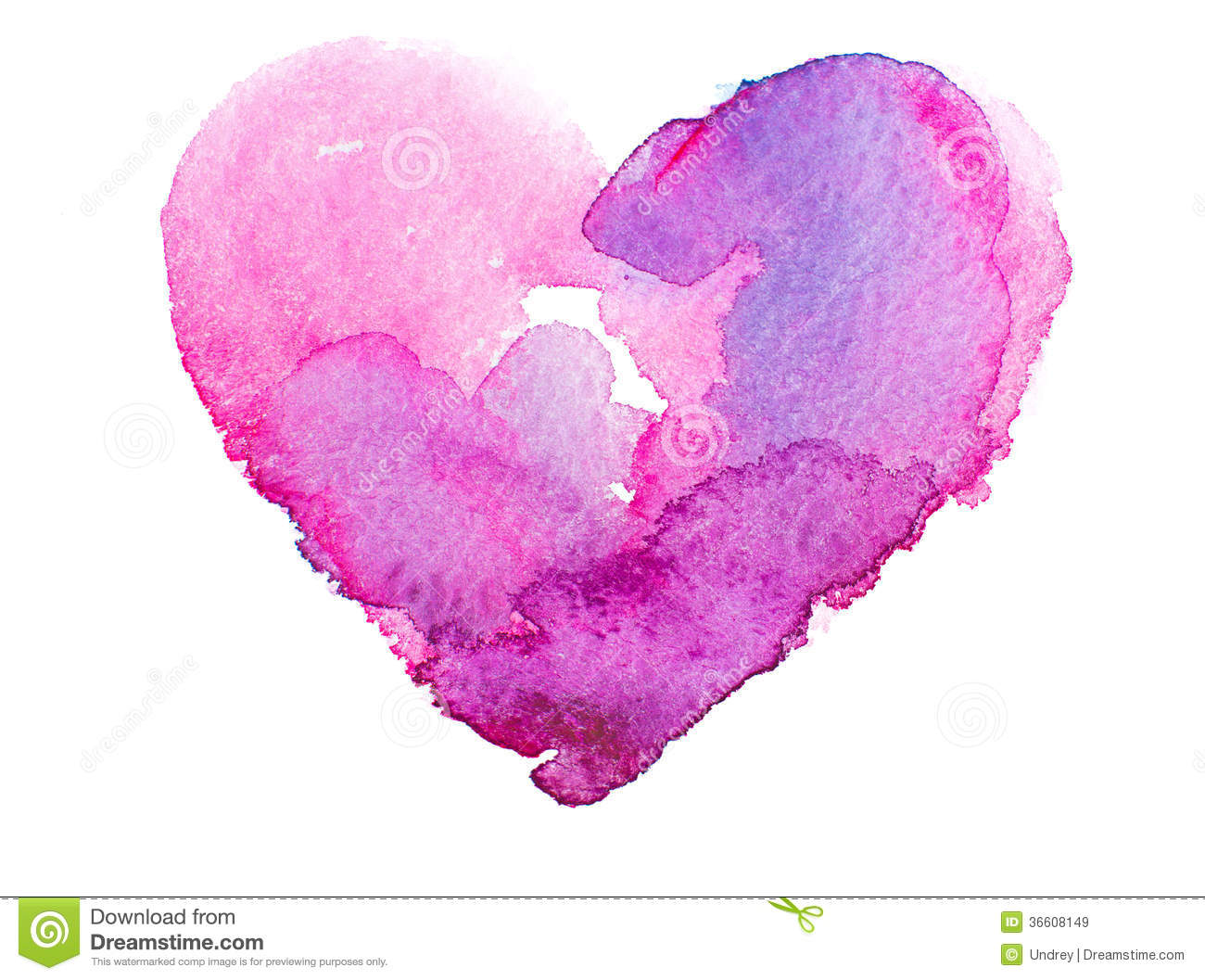 Royalty Free Stock Images: Watercolor heart. Concept - love ...