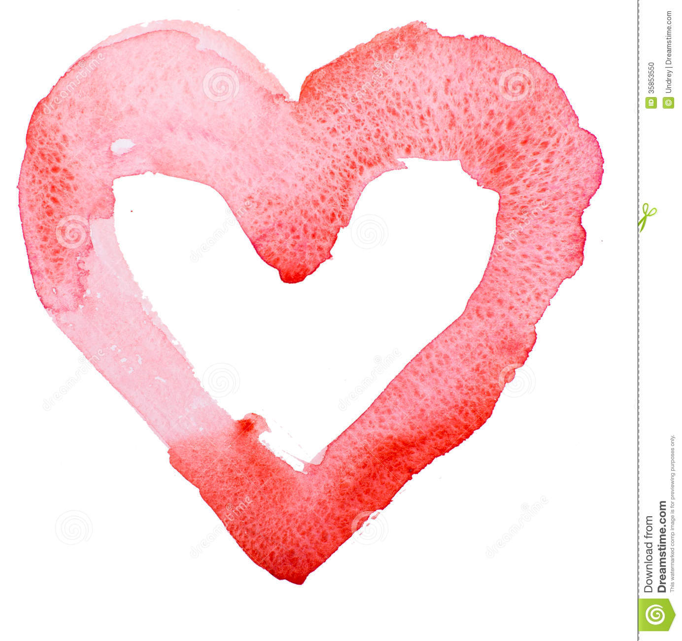 Watercolor Heart Concept Love Relationship Stock