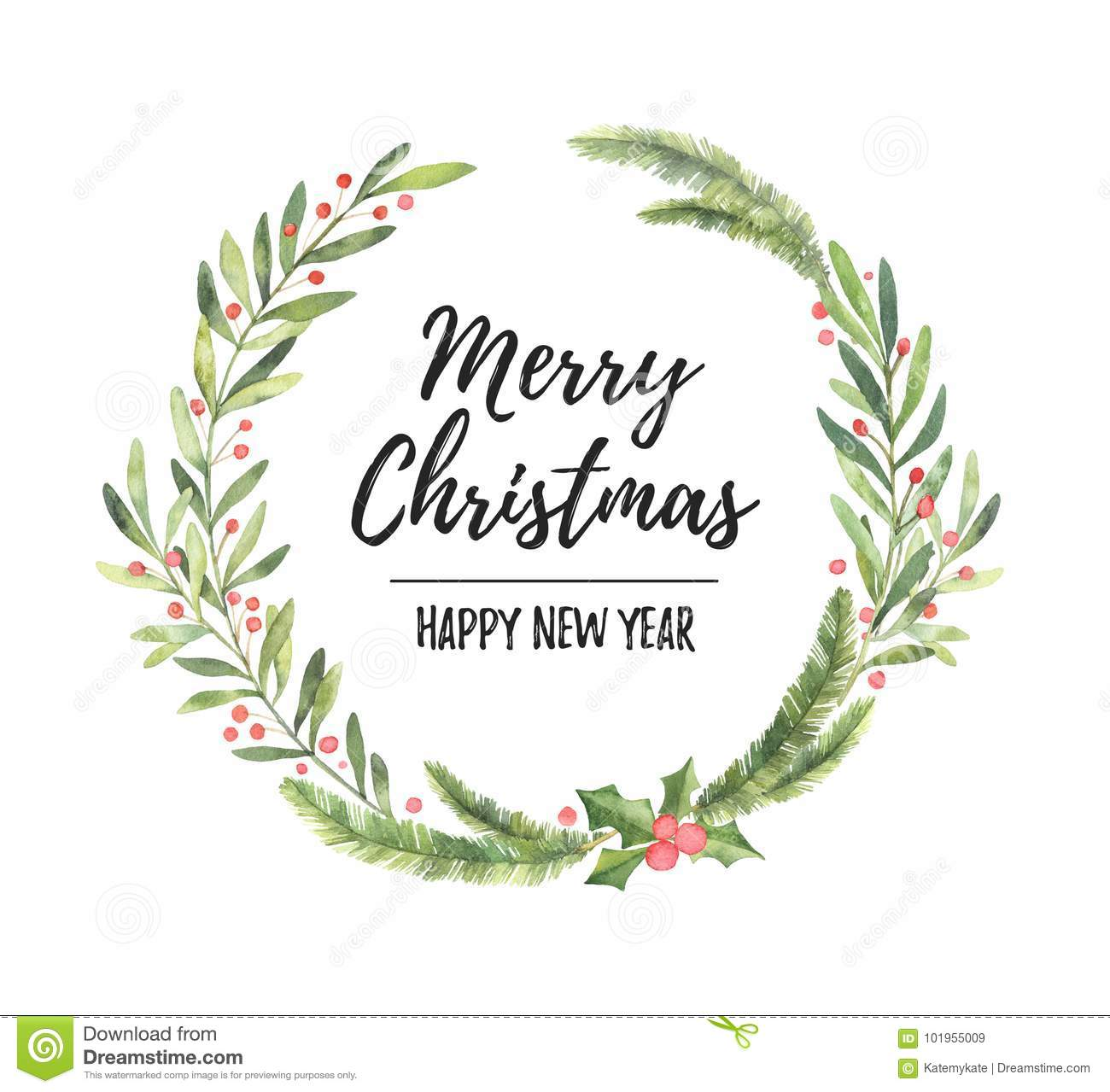 christmas laurel wreath perfect for invitations greeting cards blogs posters and more merry christmas and happy new year - Christmas Blogs