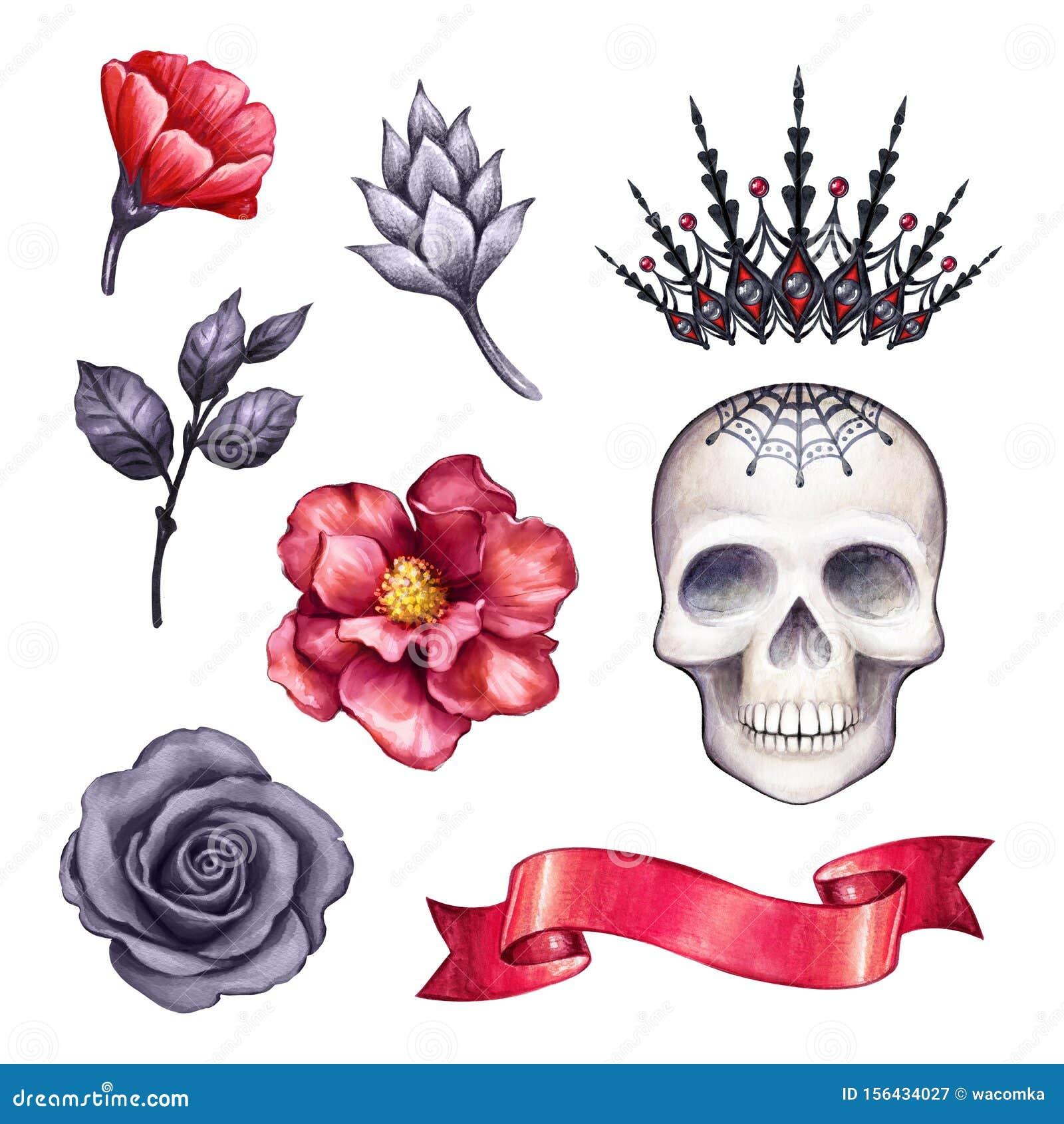 Watercolor Illustration, Halloween Clip Art, Gothic Design ...