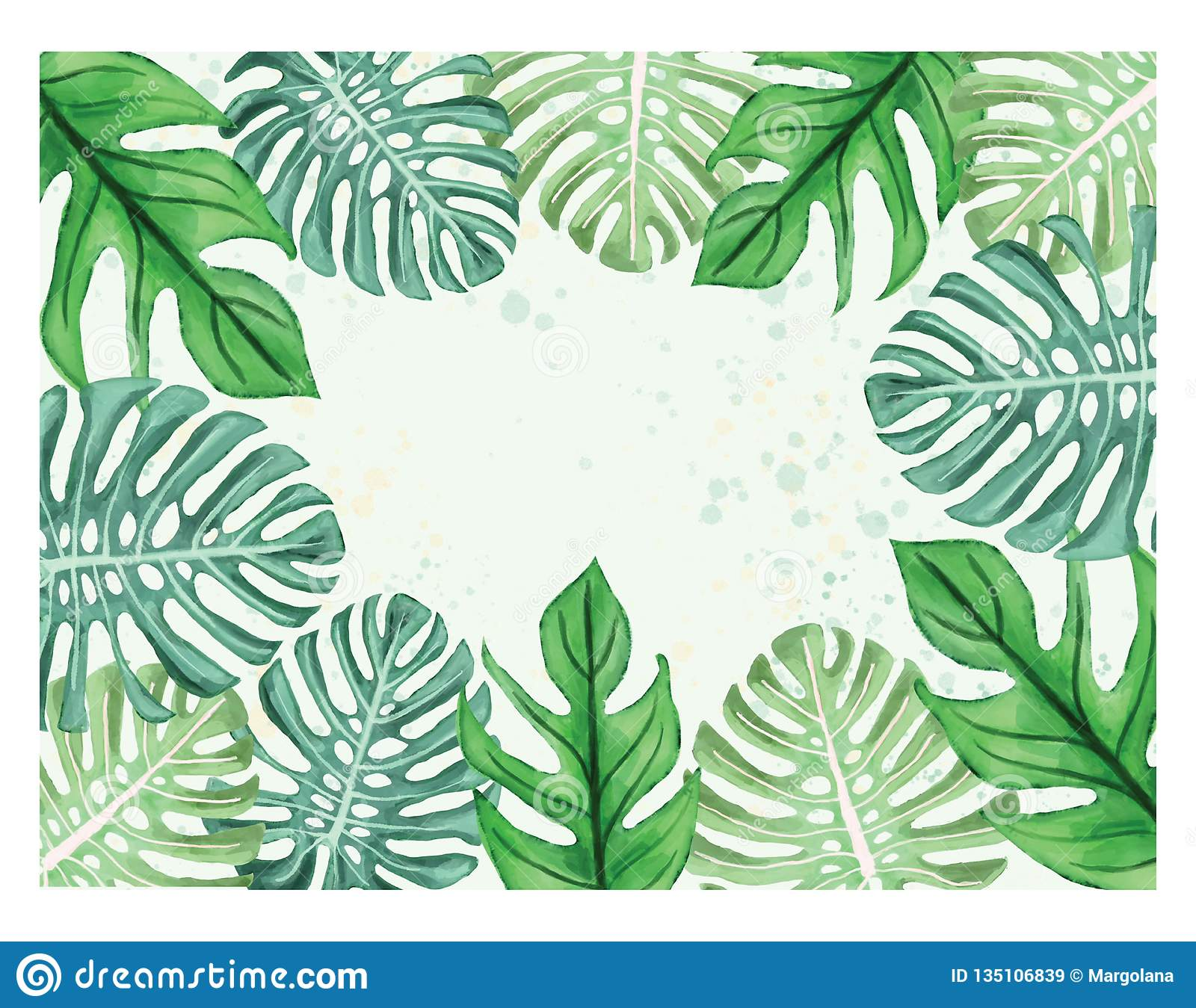 Watercolor Illustration Of Tropical Leaves Monstera Leaves Border Frame Stock Illustration Illustration Of Border Decorative 135106839 Tropical leaves wallpaper border nl57004b. https www dreamstime com watercolor illustration tropical leaves monstera leaves border frame watercolor illustration tropical leaves beautiful image135106839