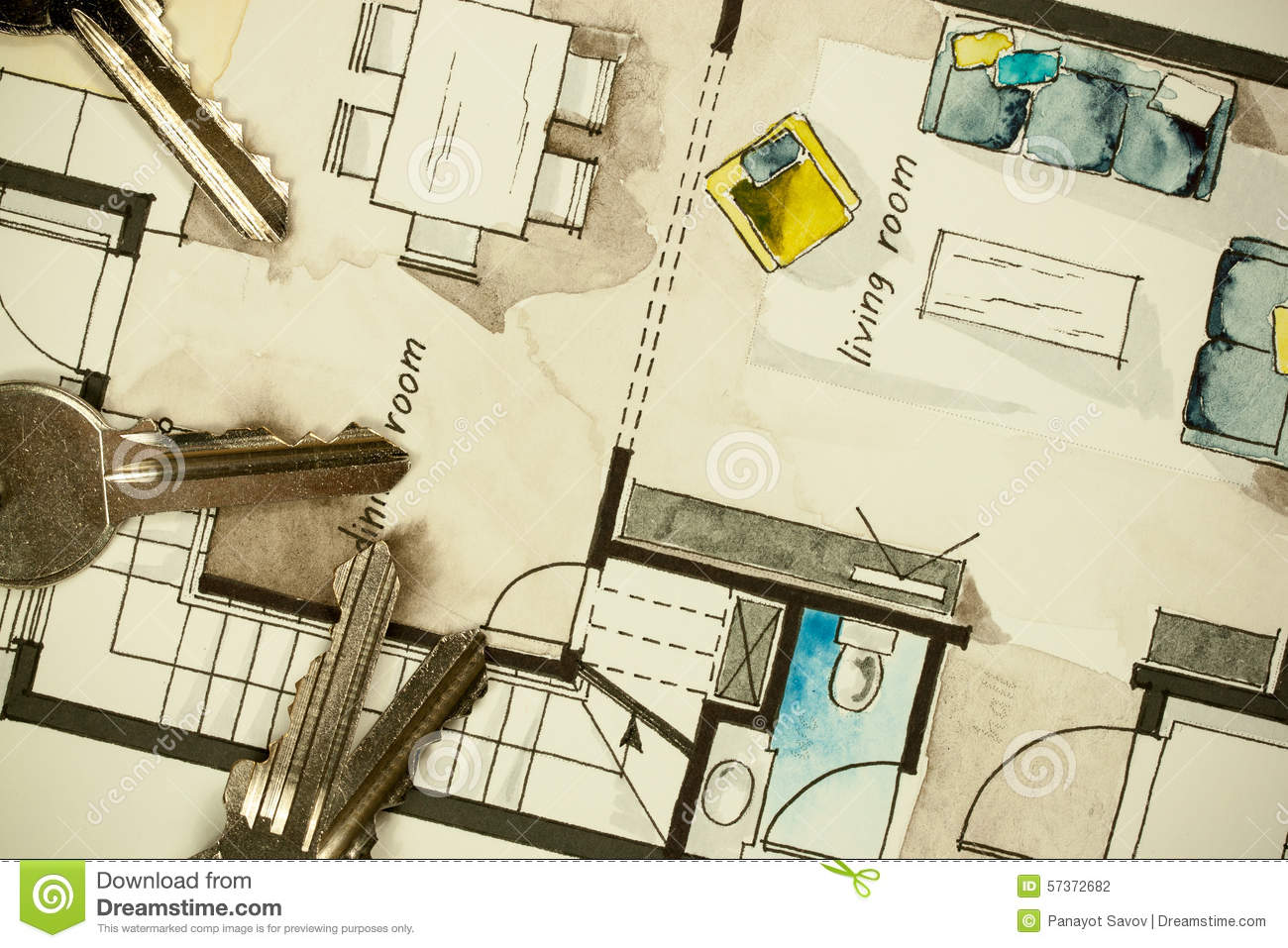 Architectural flat floor plan stock photo image 57372682 for Architectural design floor plans