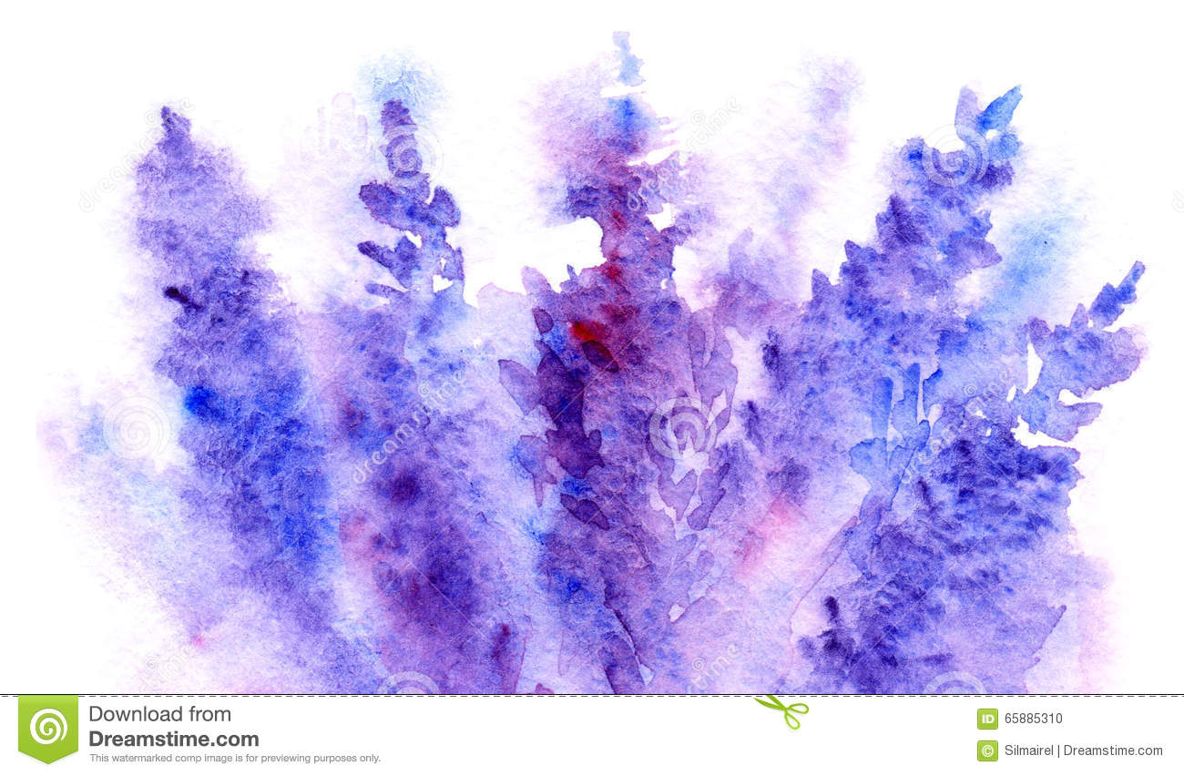 Watercolor Lavender Flower Blossom Abstract Background Texture Stock ...