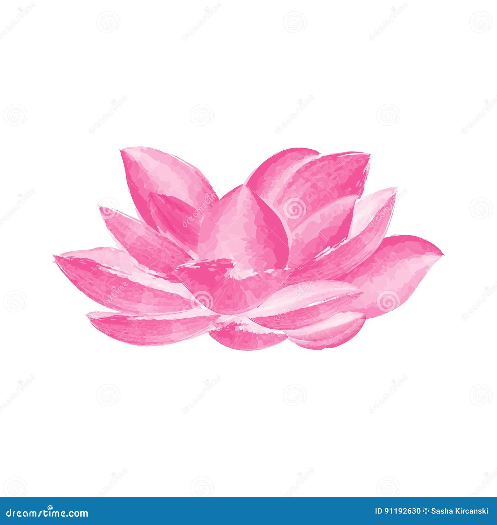 Watercolor lotus flower stock vector illustration of paint 91192630 watercolor lotus flower paint water izmirmasajfo