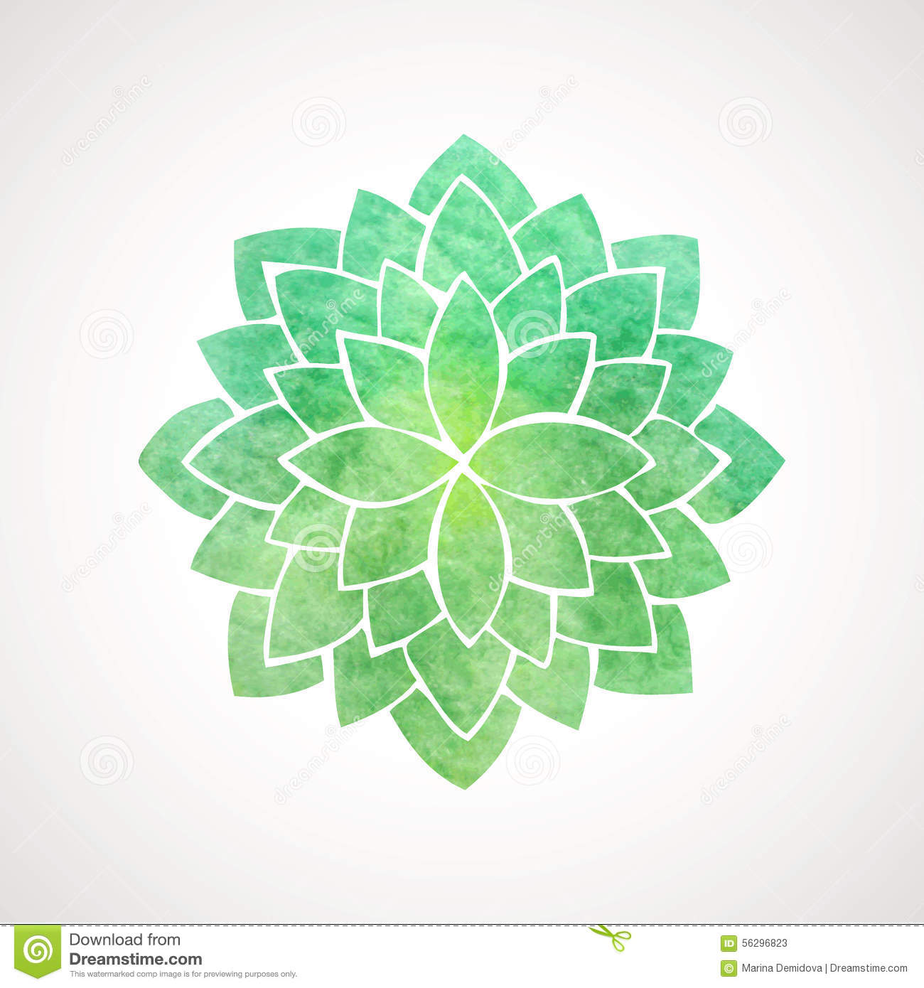 watercolor lotus flower green color stock vector image lotus clipart images lotus clip art black and white