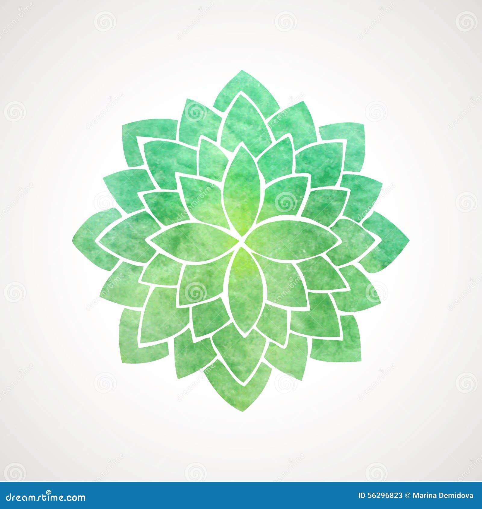 Watercolor lotus flower green color stock vector illustration of watercolor lotus flower green color izmirmasajfo