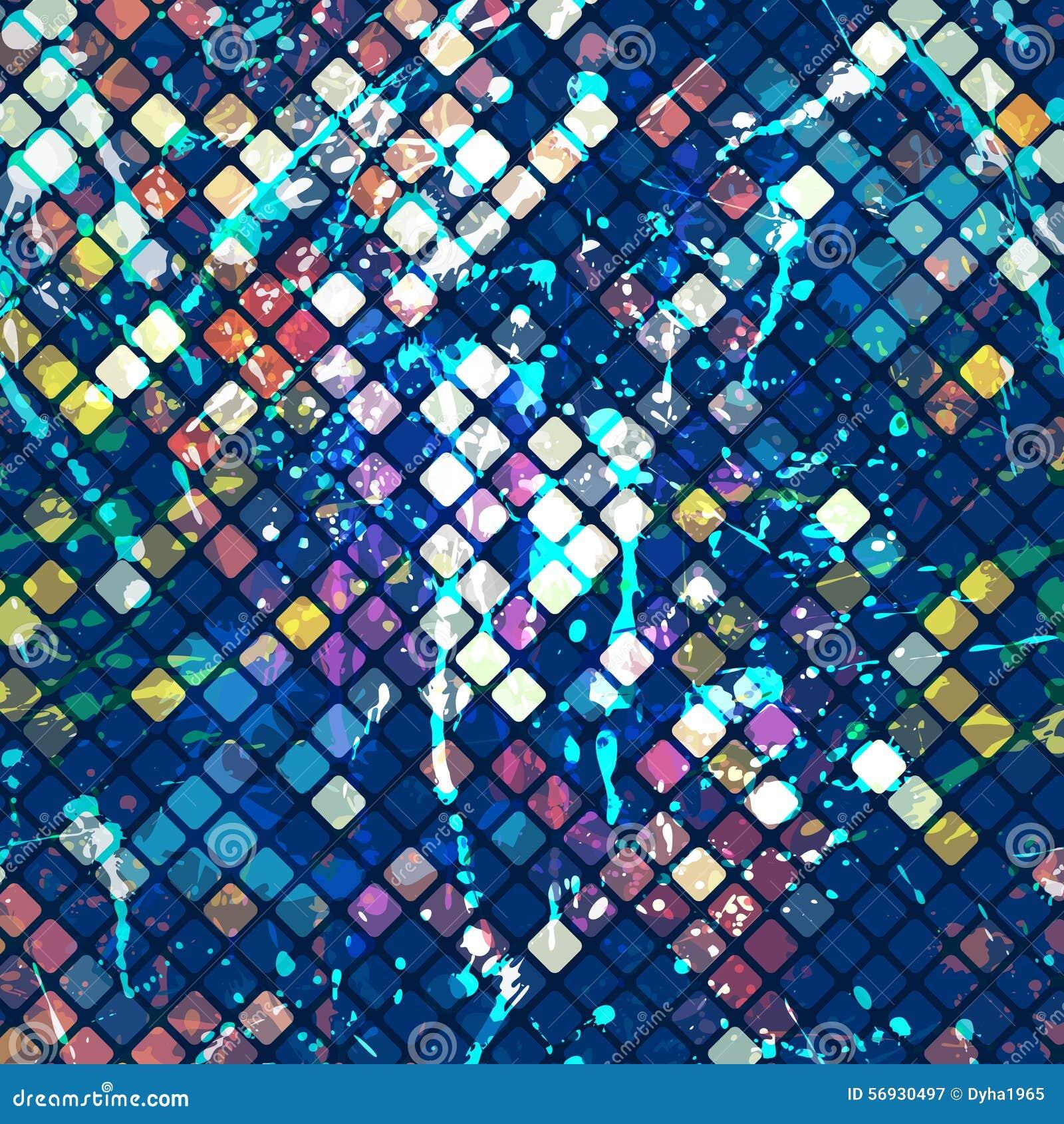 Watercolor Mosaic Stock Vector - Image: 56930497
